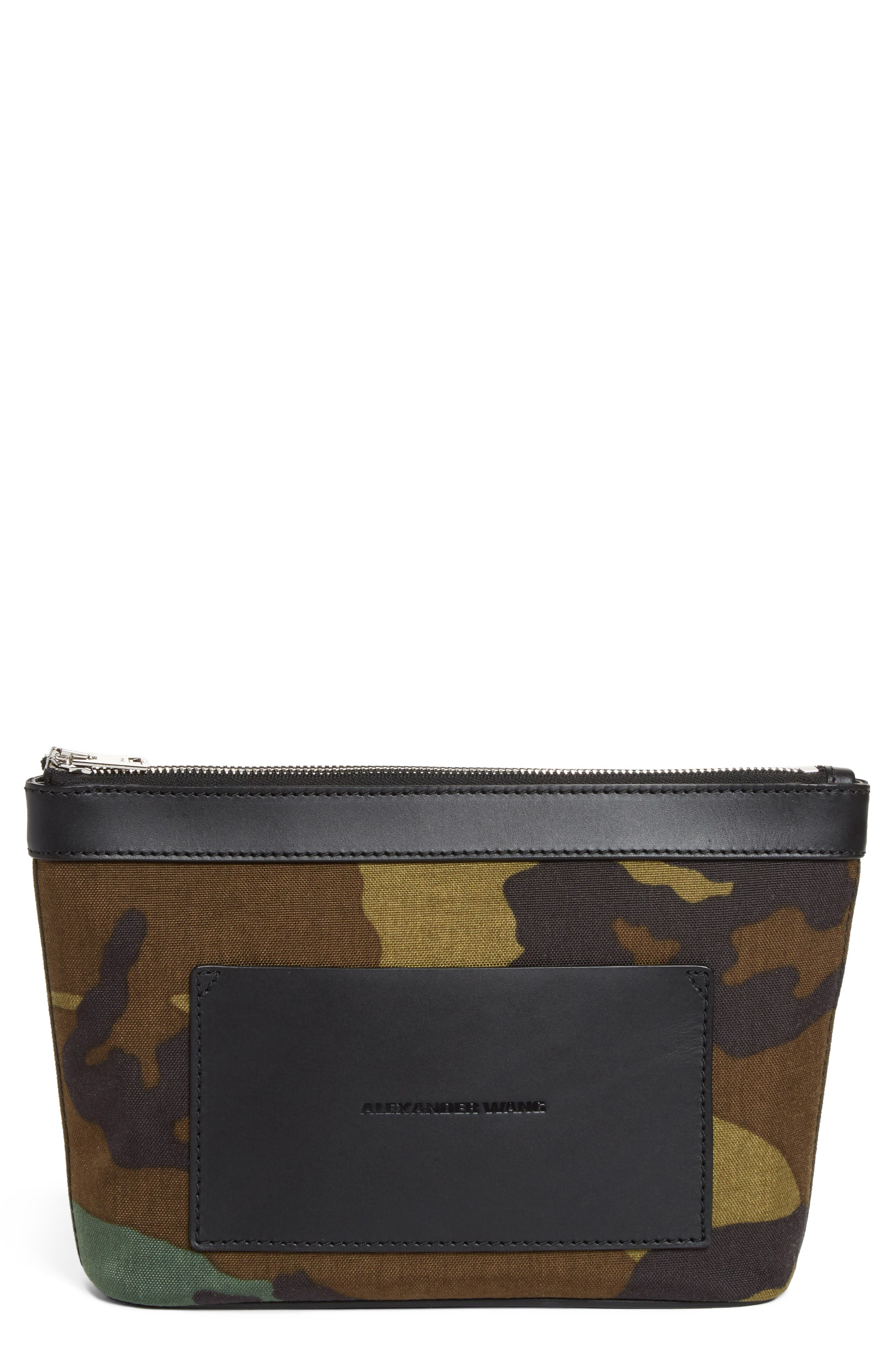 Alternate Image 1 Selected - Alexander Wang Small Camo Canvas Pouch