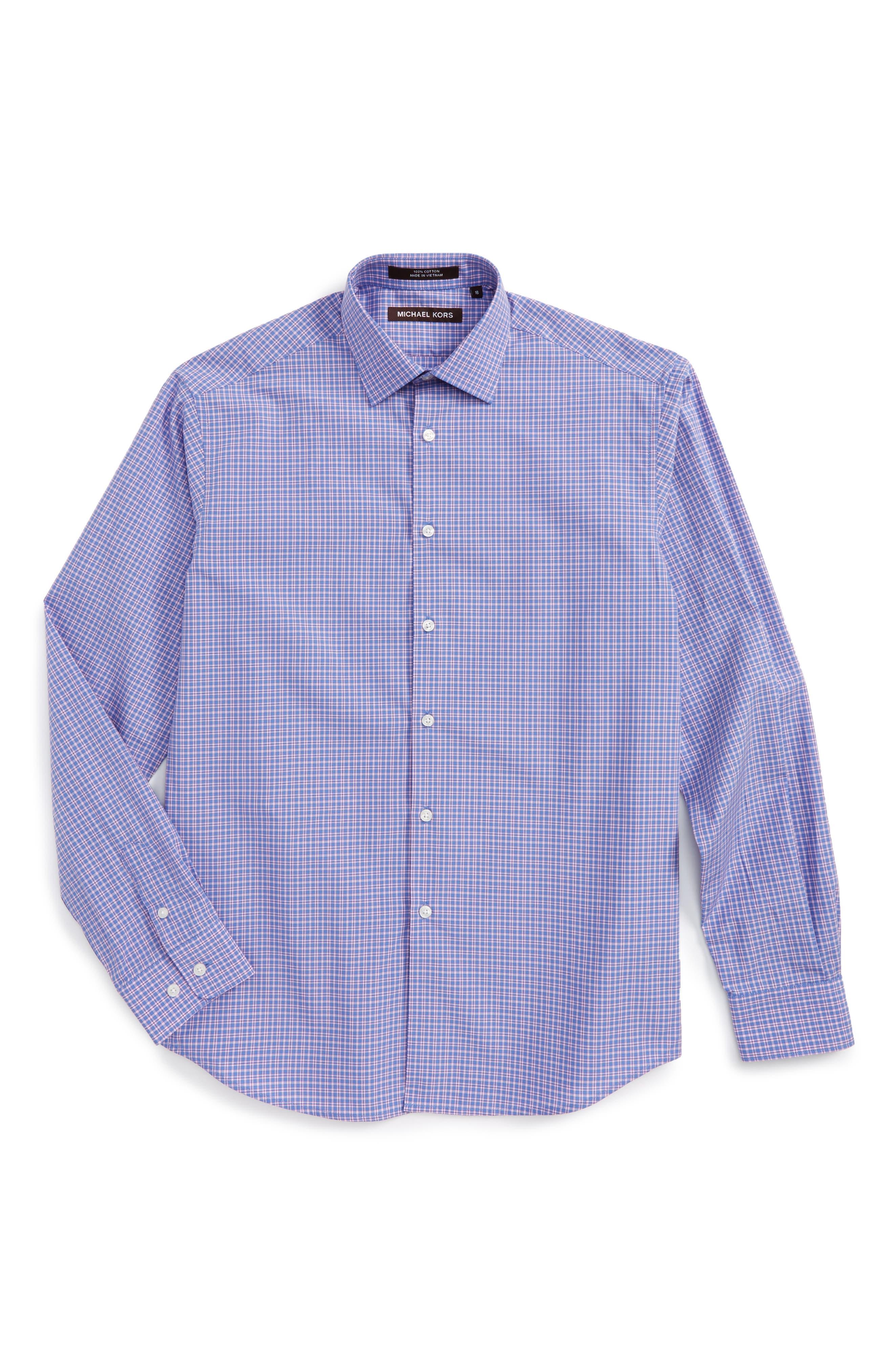 Michael Kors Plaid Dress Shirt (Big Boys)