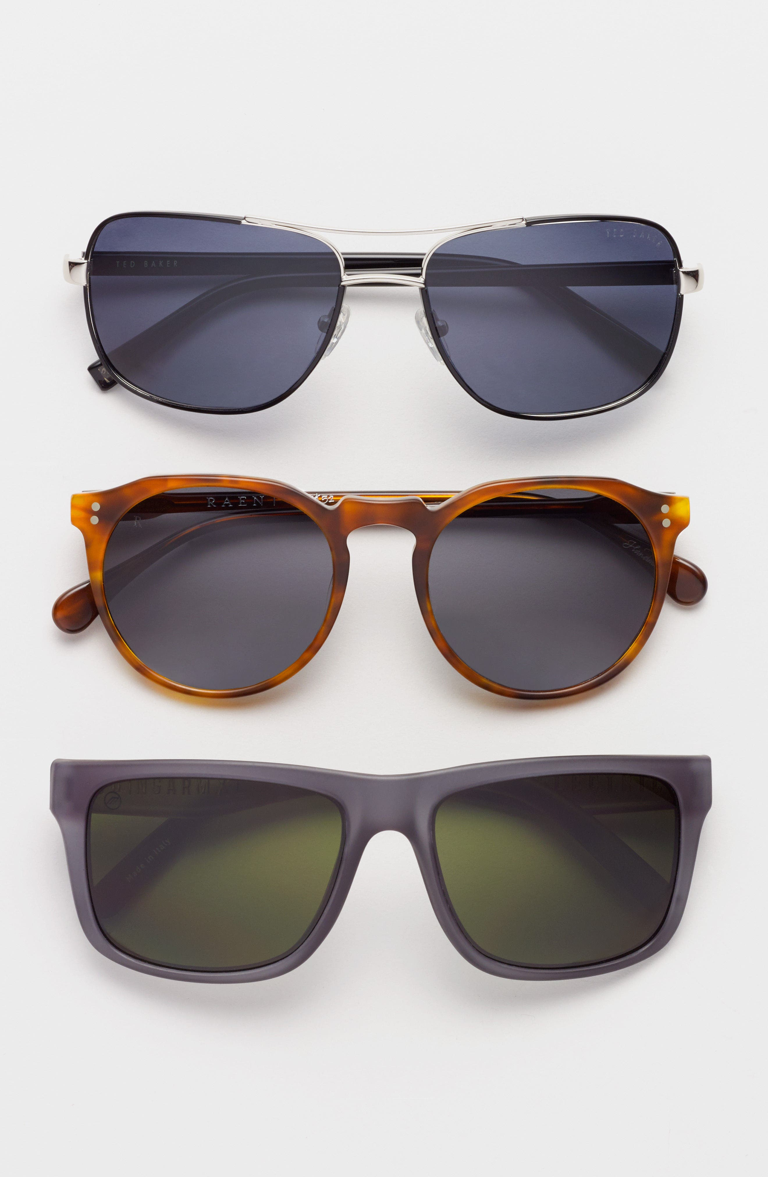 Alternate Image 2  - Ted Baker London 59mm Polarized Navigator Sunglasses
