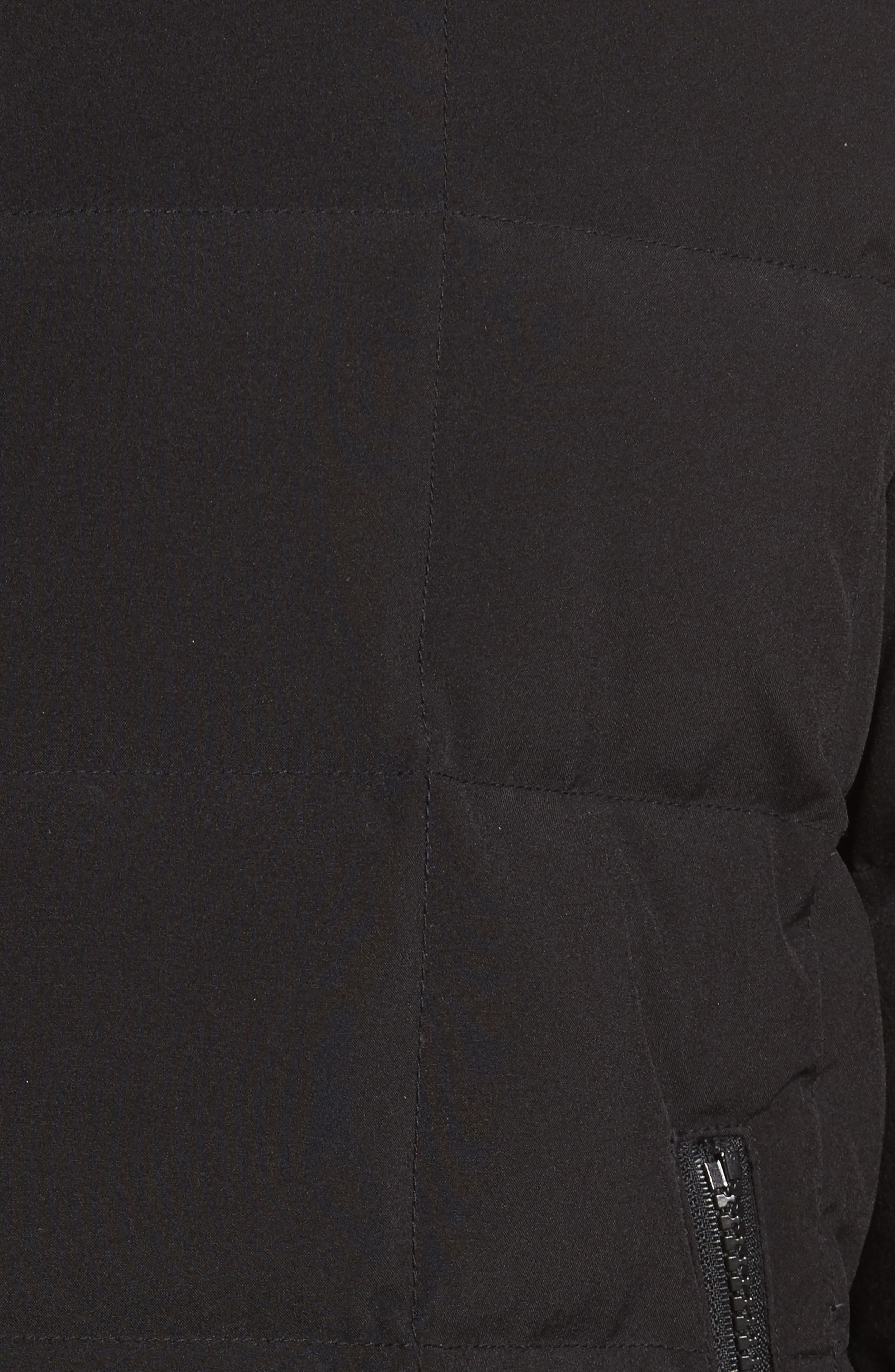 Box Quilted Jacket,                             Alternate thumbnail 5, color,                             Black