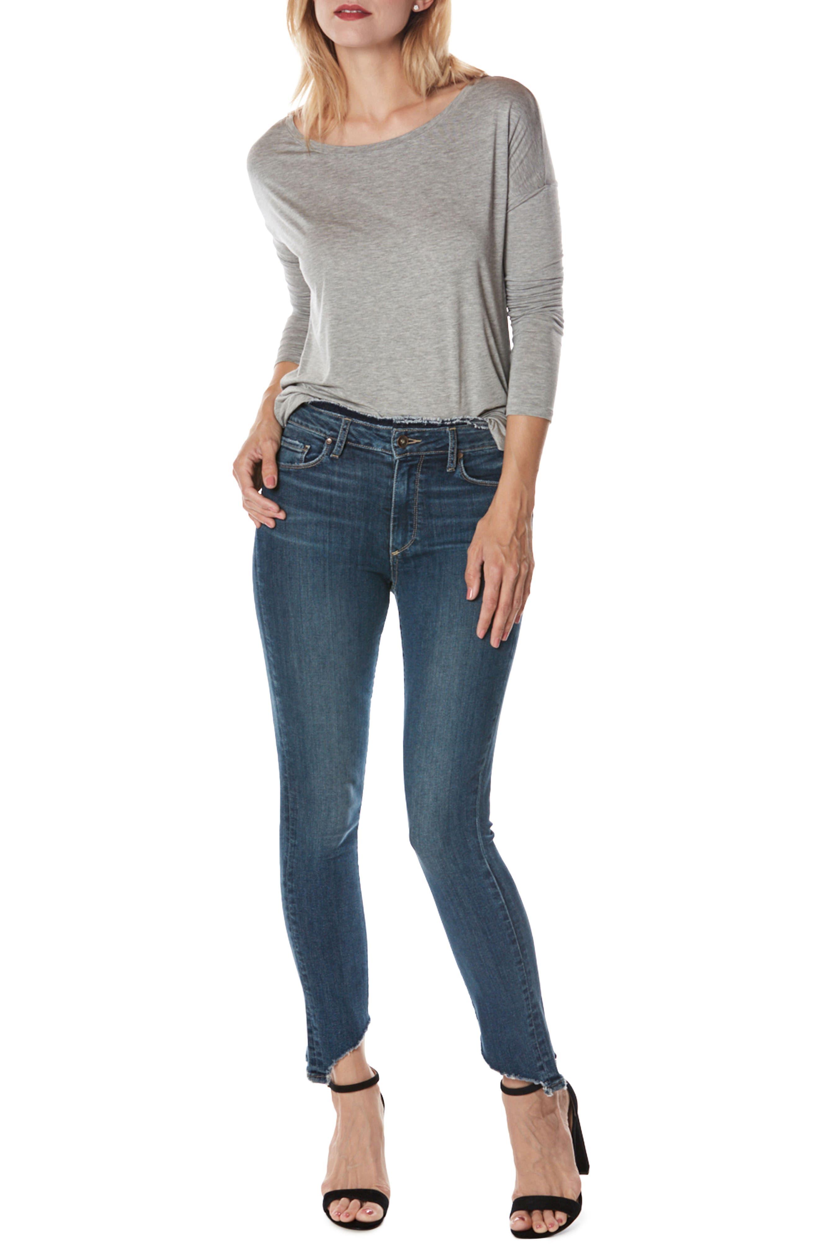 Alternate Image 3  - PAIGE Hoxton High Waist Frayed Hem Ankle Skinny Jeans (Fraya)