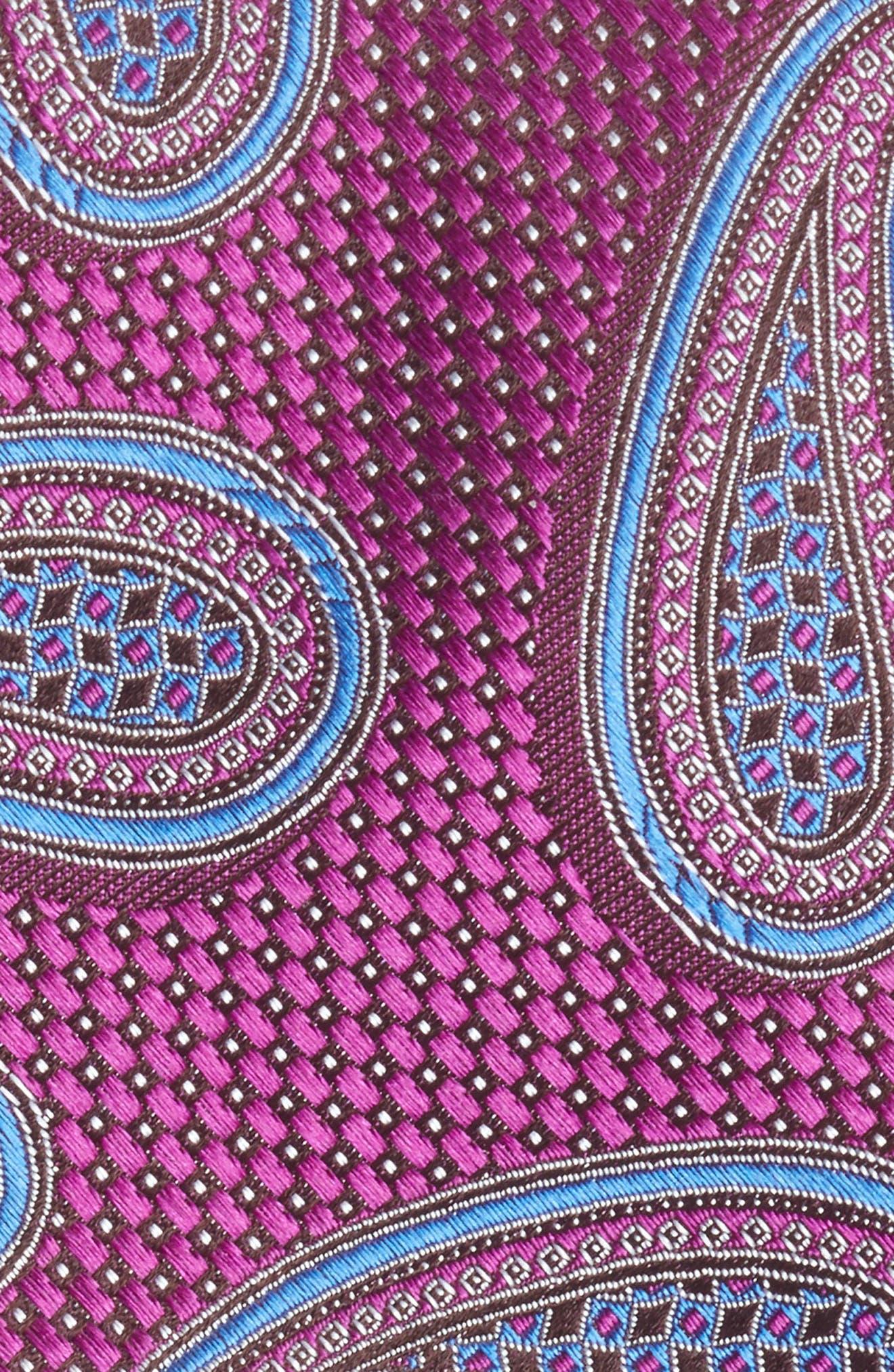 Alternate Image 2  - Nordstrom Men's Shop Textured Paisley Silk Tie