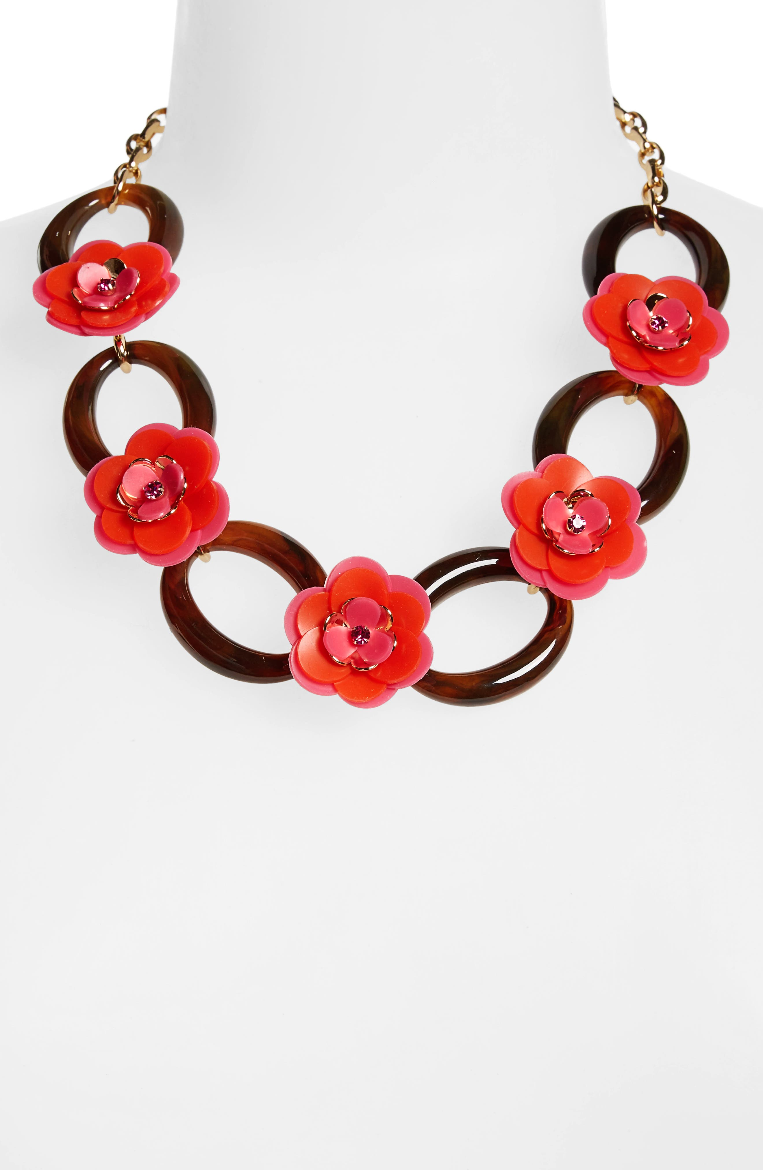 Alternate Image 2  - kate spade rose posies link necklace