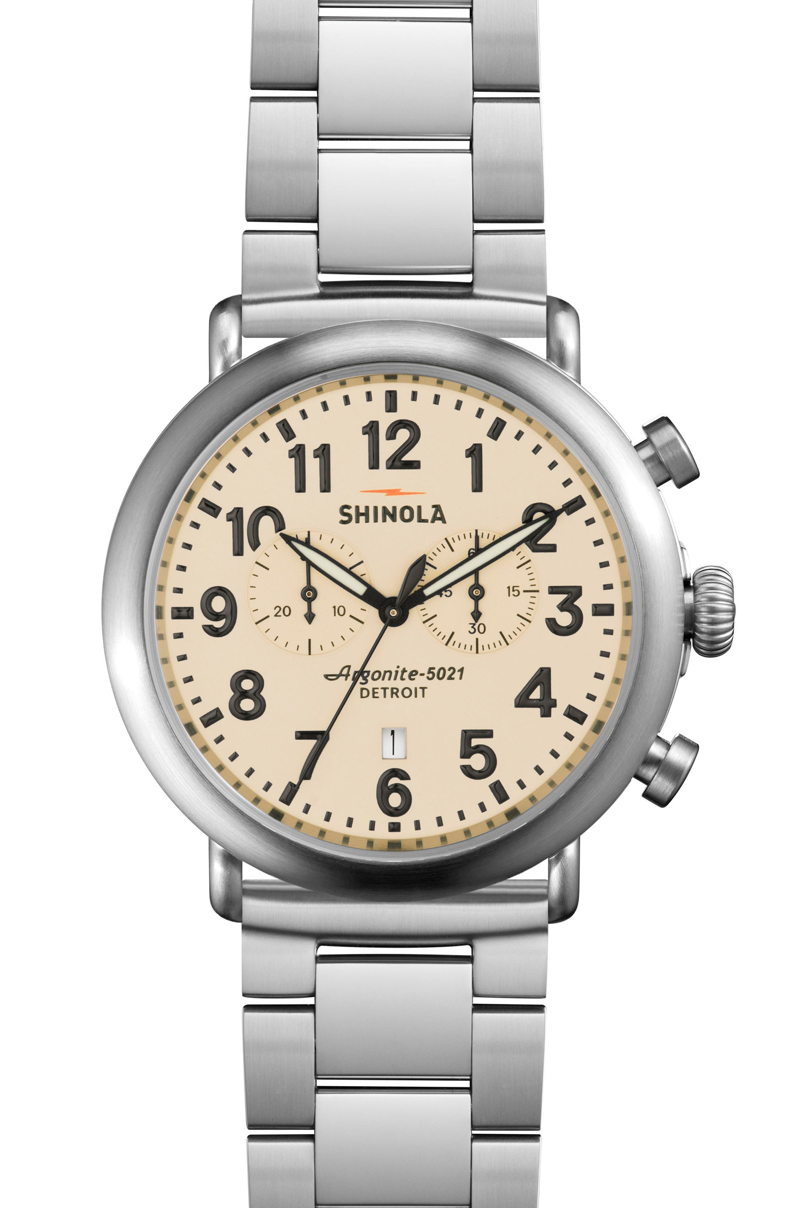 Alternate Image 4  - Shinola The Runwell Chronograph Watch Gift Set, 47mm