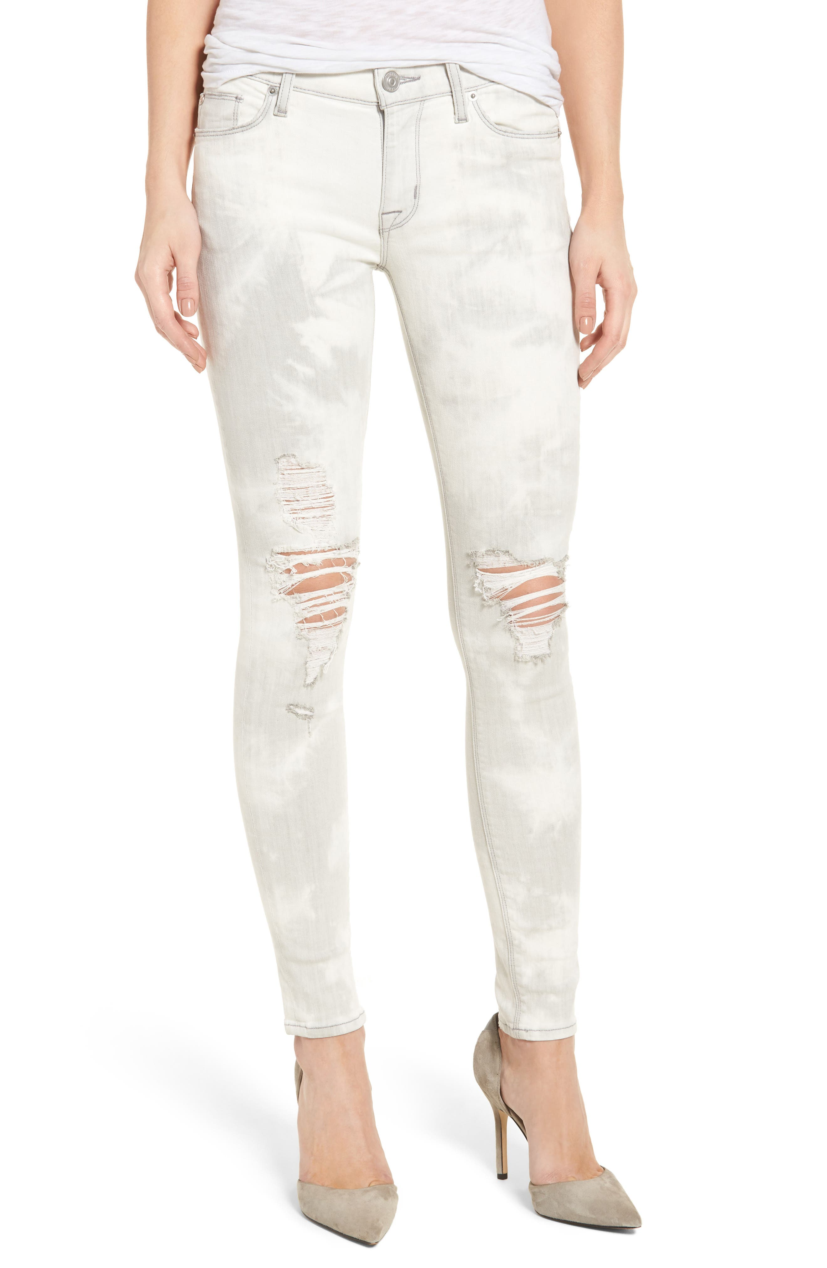 Nico Ripped Super Skinny Jeans,                         Main,                         color, Powdered Stratus