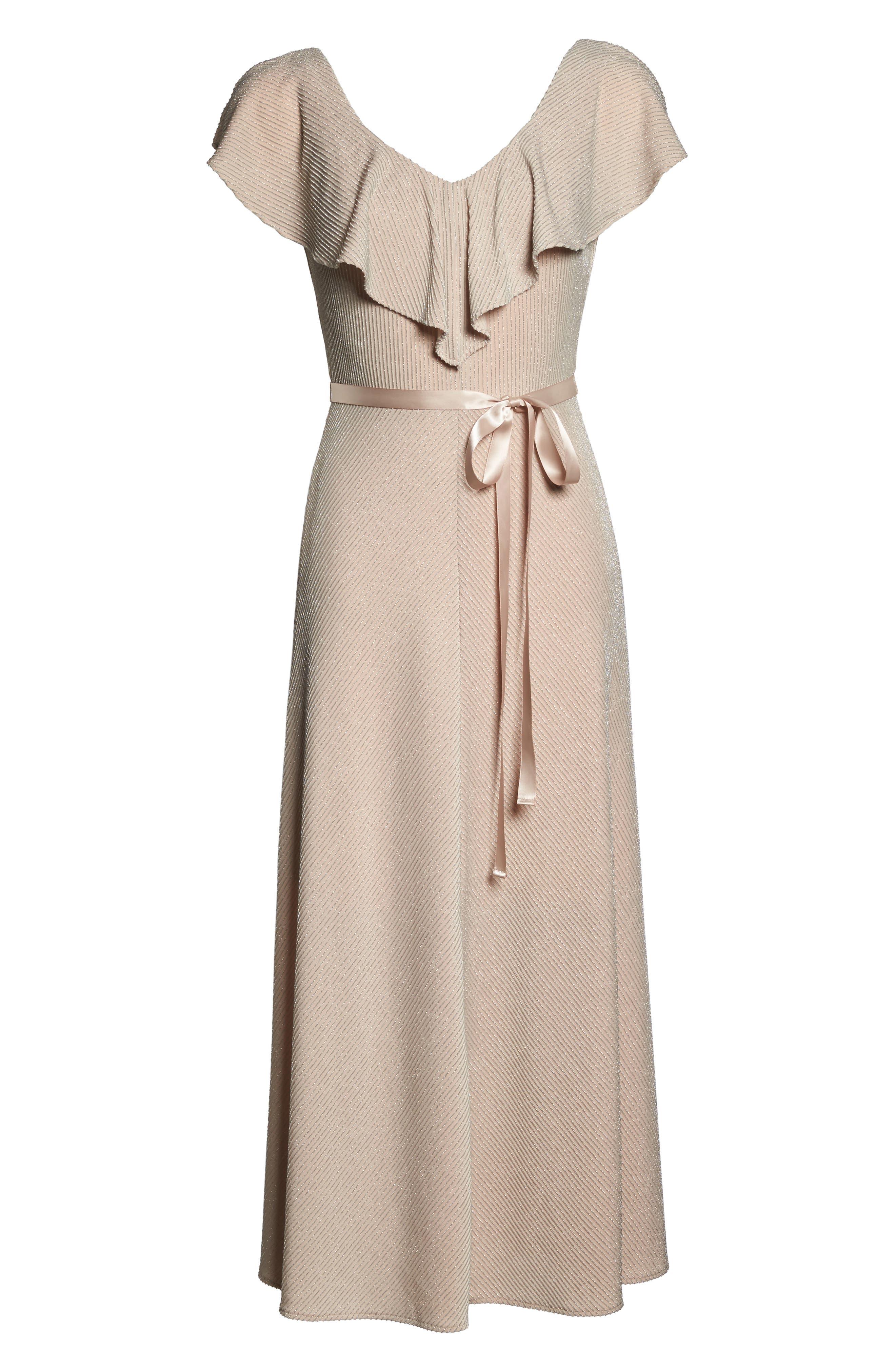Alternate Image 6  - Taylor Dresses Ruffle Maxi Dress