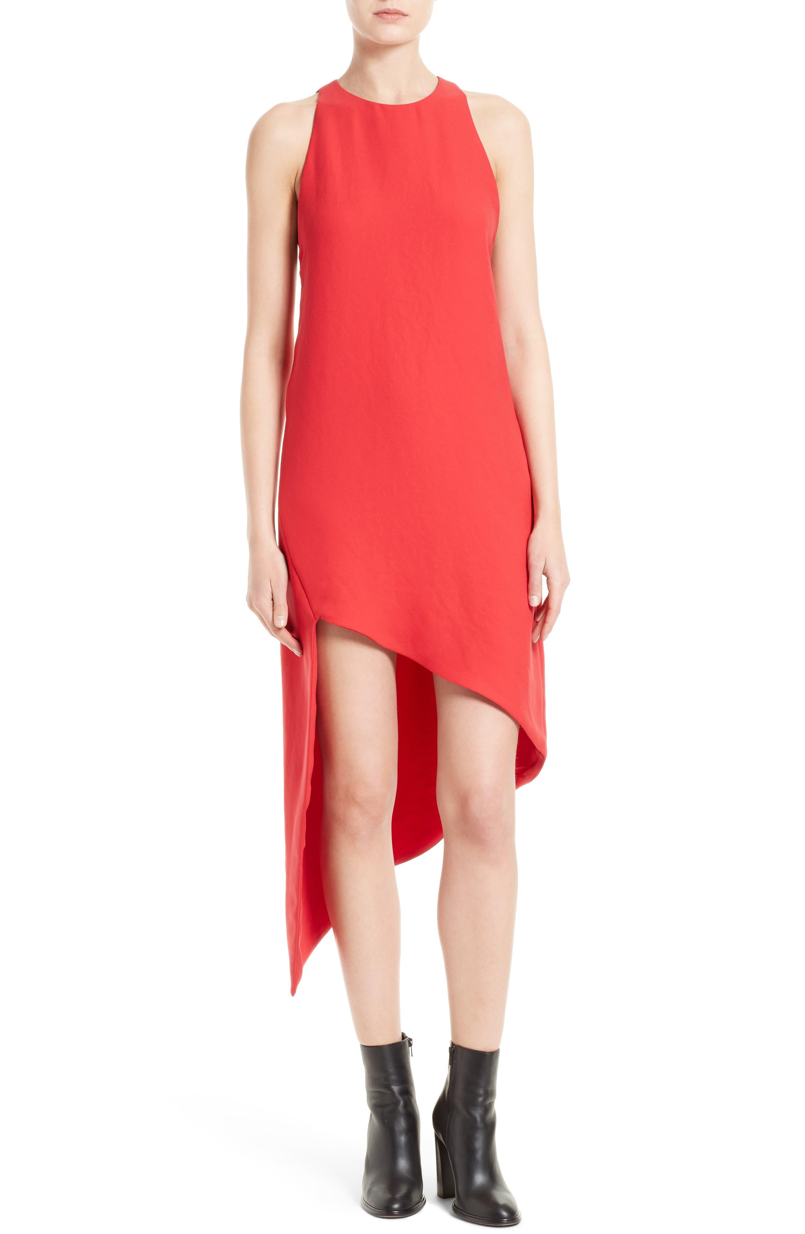 Hamlin Asymmetrical High/Low Dress,                         Main,                         color, Pink Fushia