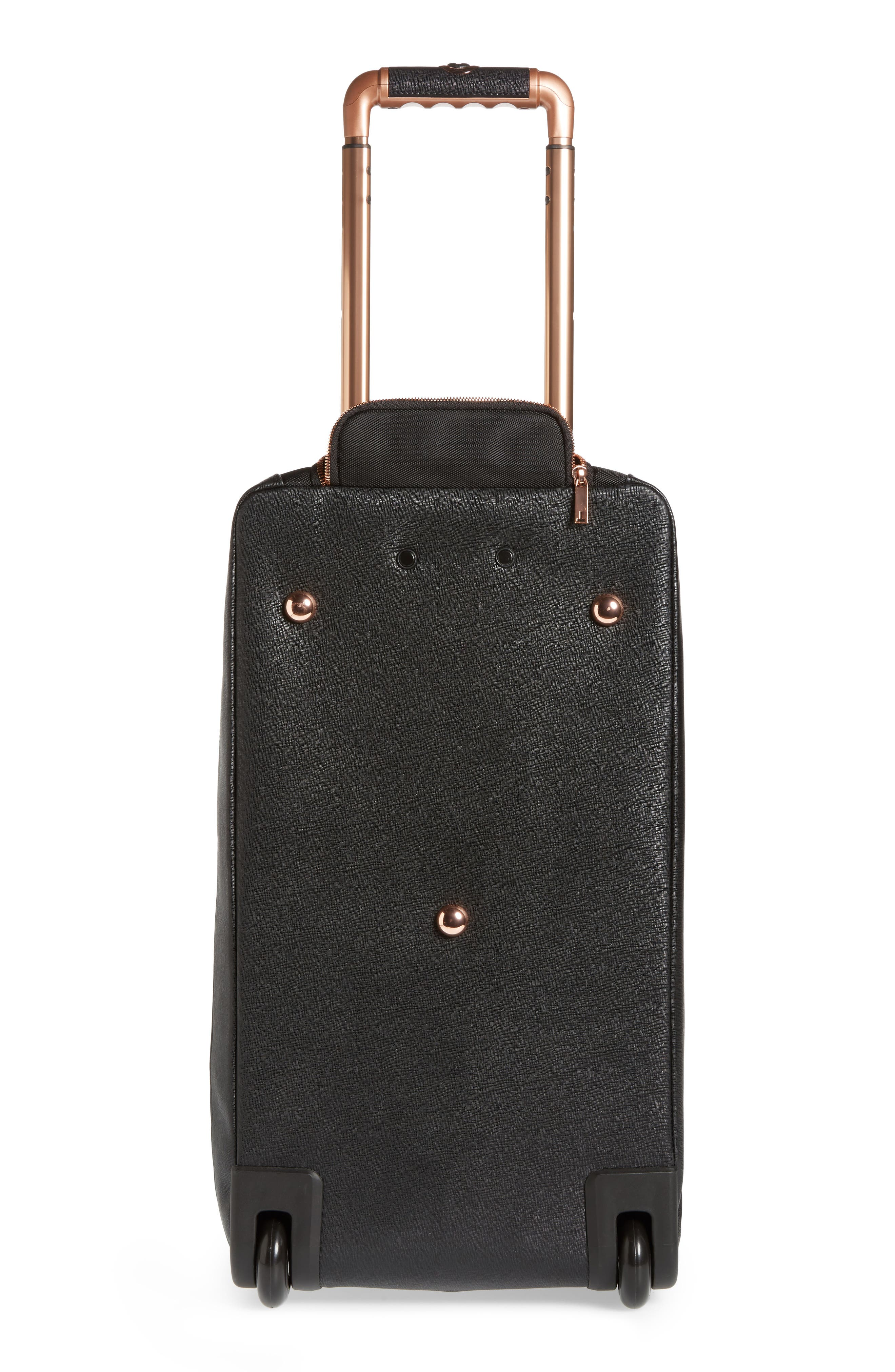 Large Albany Rolling Duffel Bag,                             Alternate thumbnail 5, color,                             Black