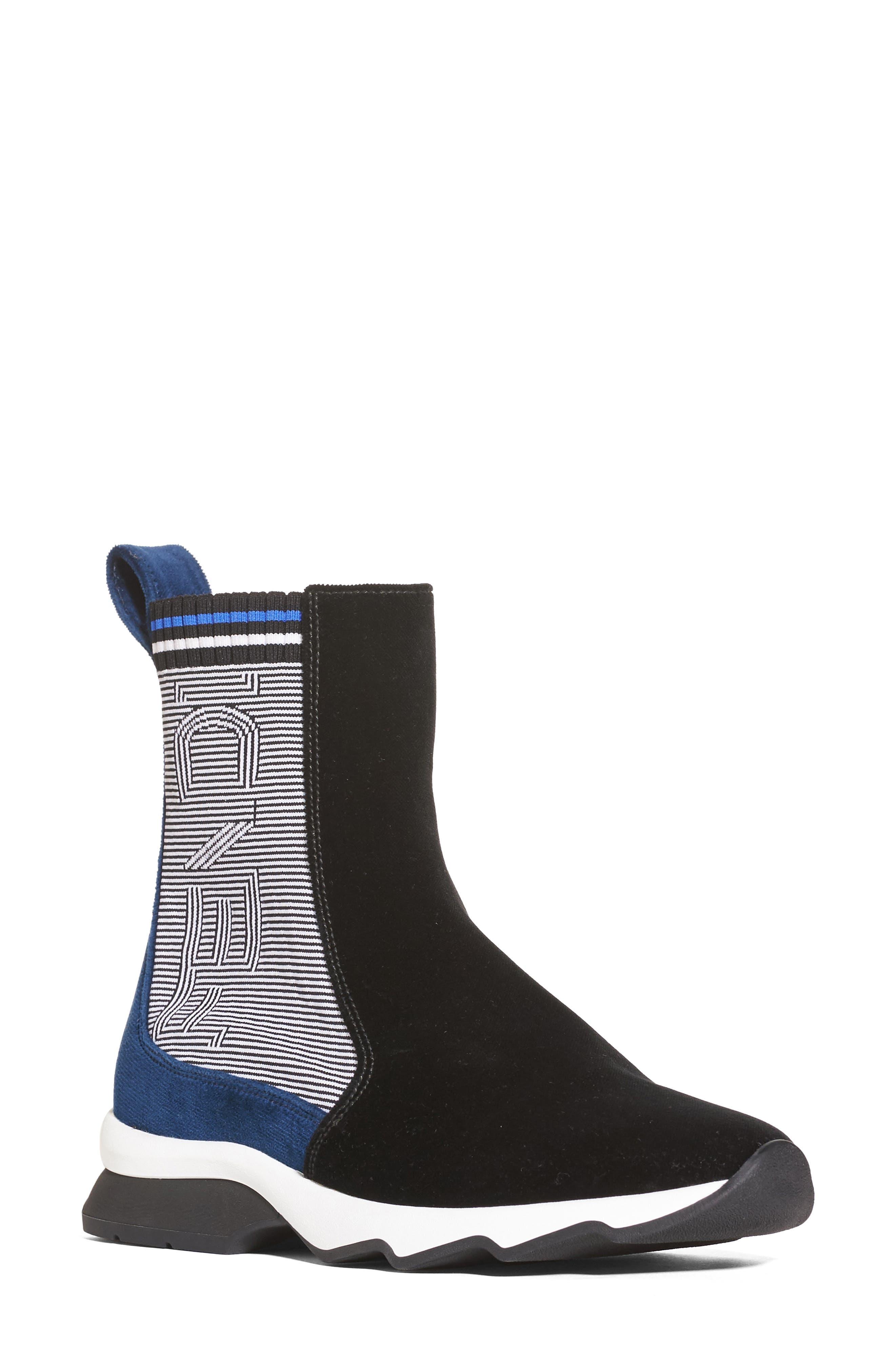 Fendi Stripy High Top Sock Sneaker (Women)