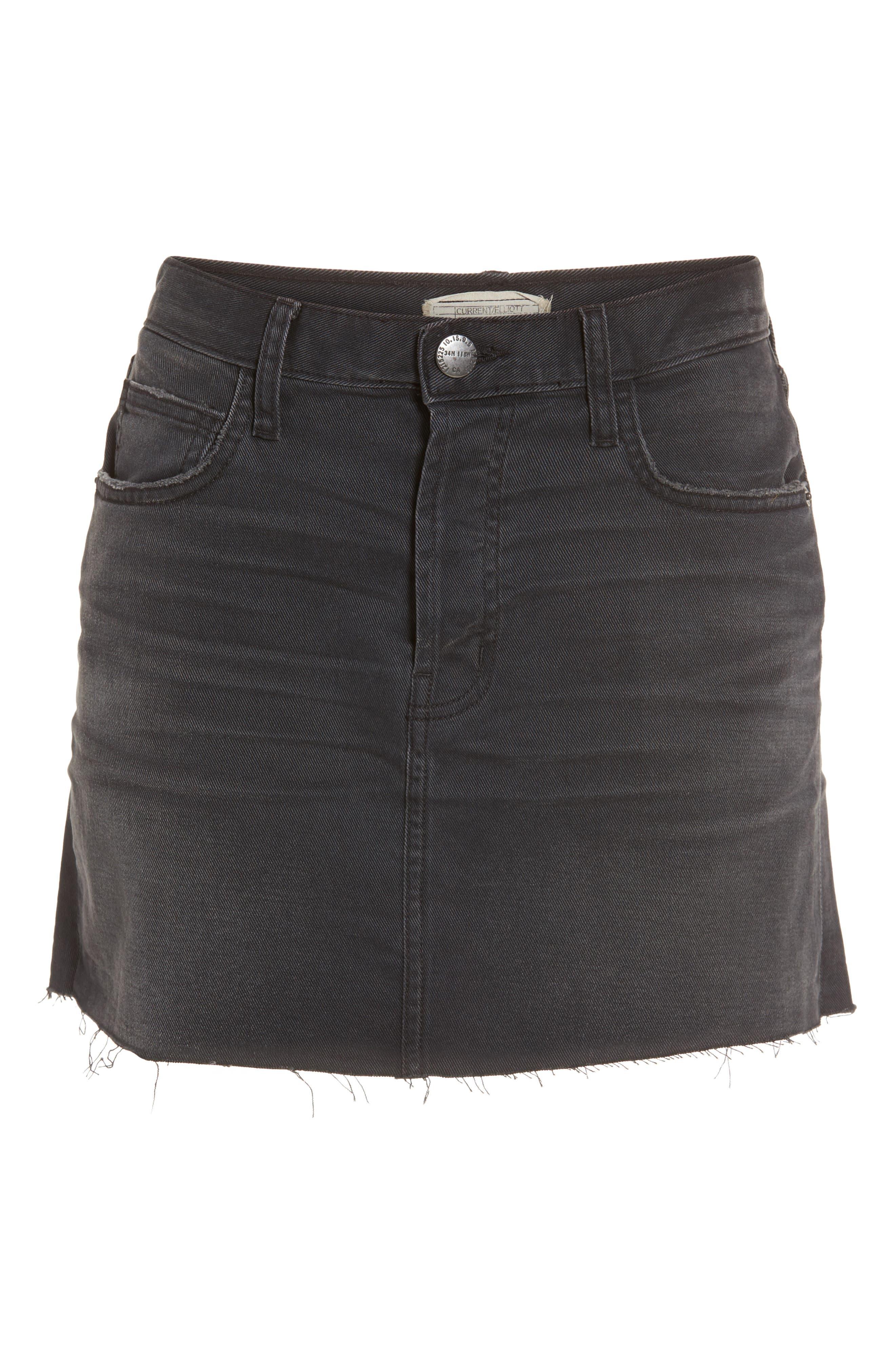 Alternate Image 6  - Current/Elliott Cut Off Miniskirt