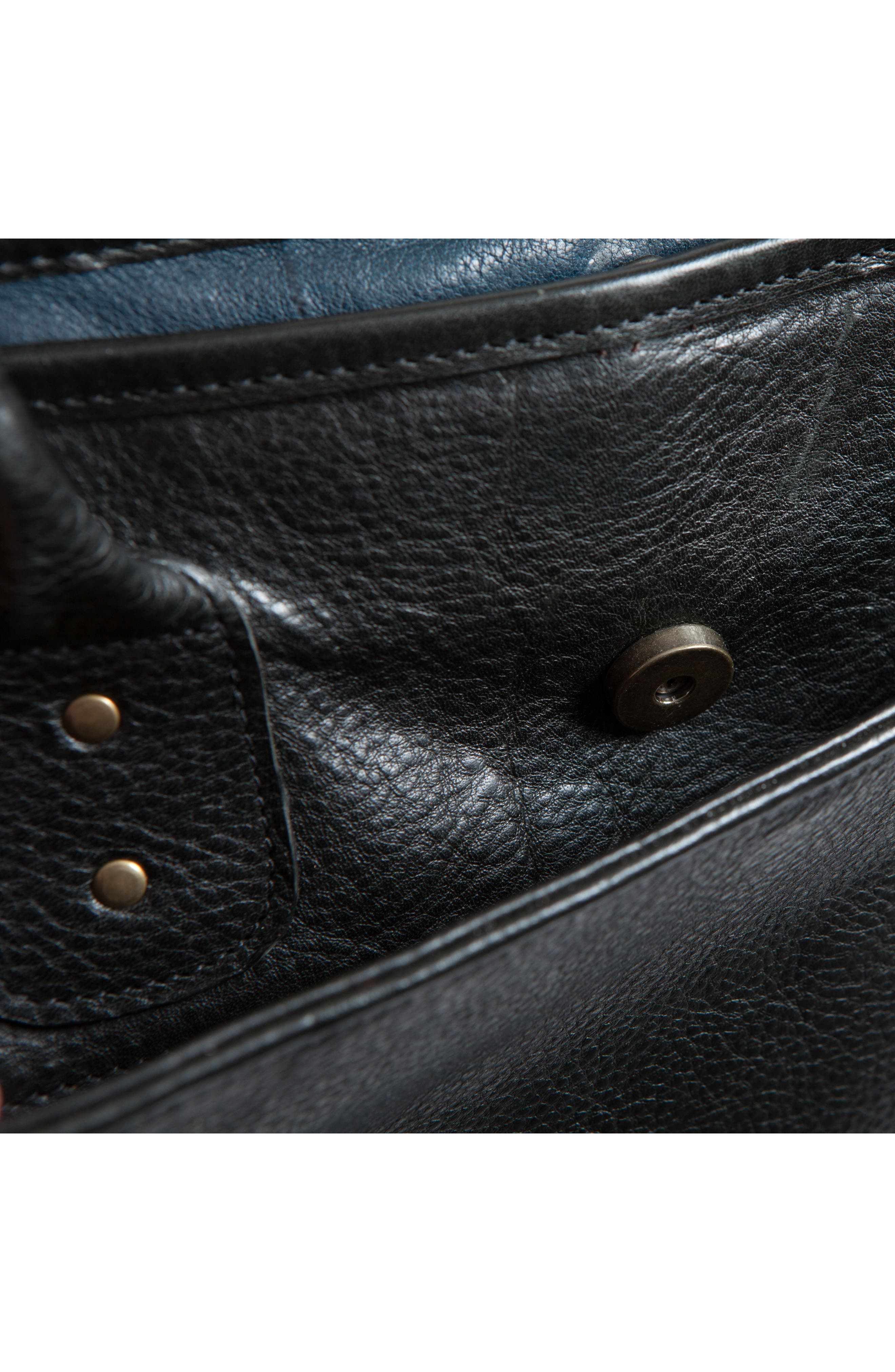 Miller Leather Briefcase,                             Alternate thumbnail 7, color,                             Titan Milled Navy And Gunmetal