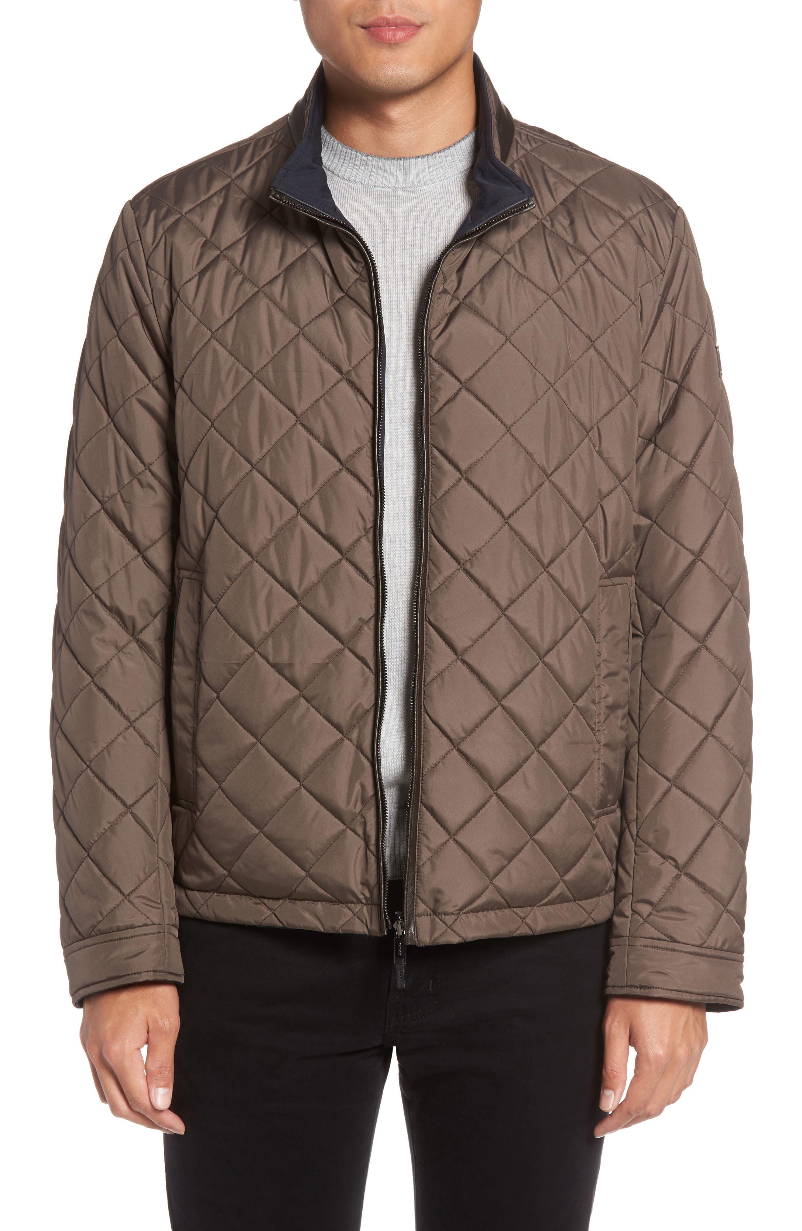 Reversible Jacket,                         Main,                         color, Khaki/ Navy