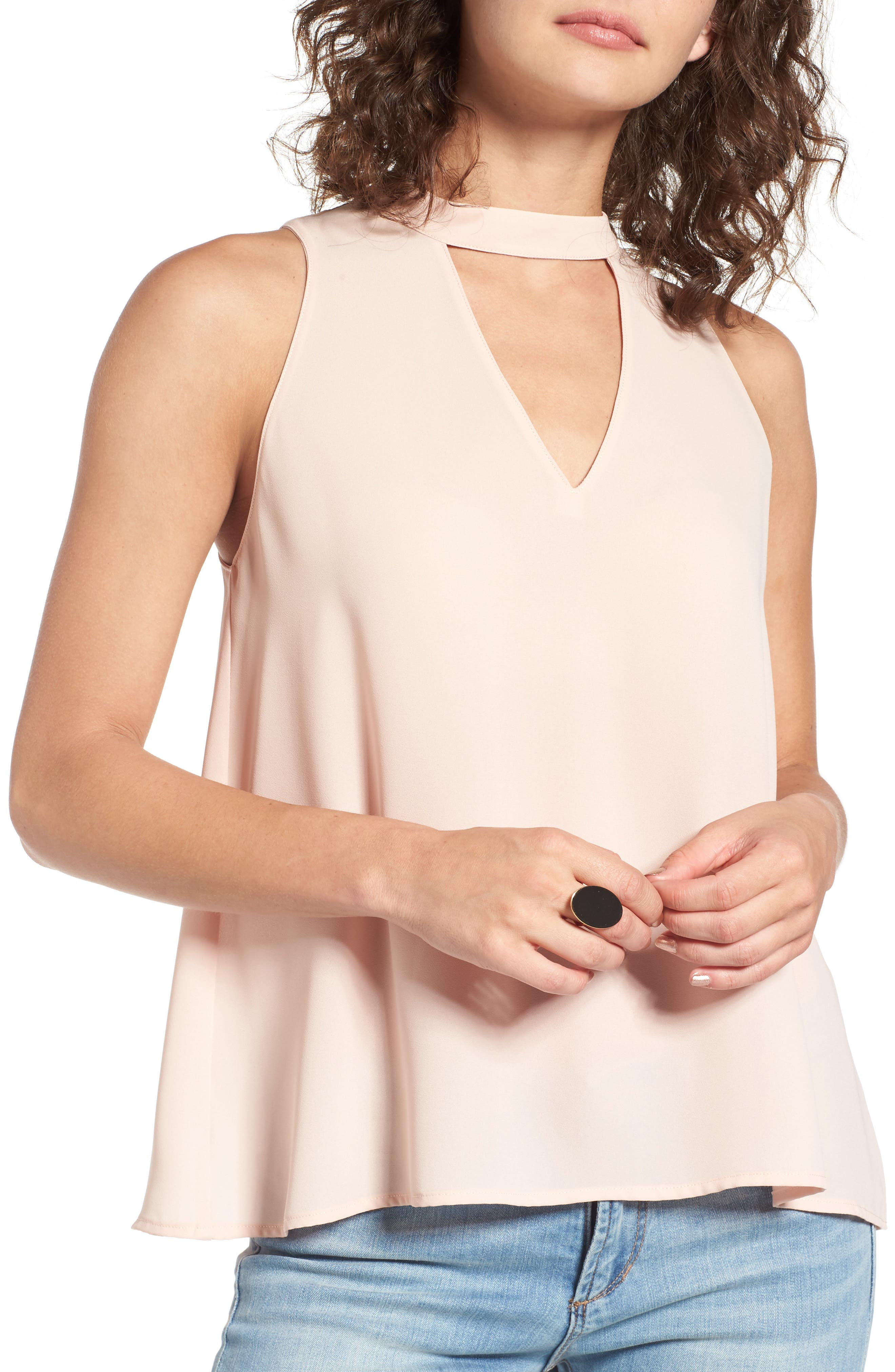 Choker Swing Tank,                             Main thumbnail 1, color,                             Cameo Rose