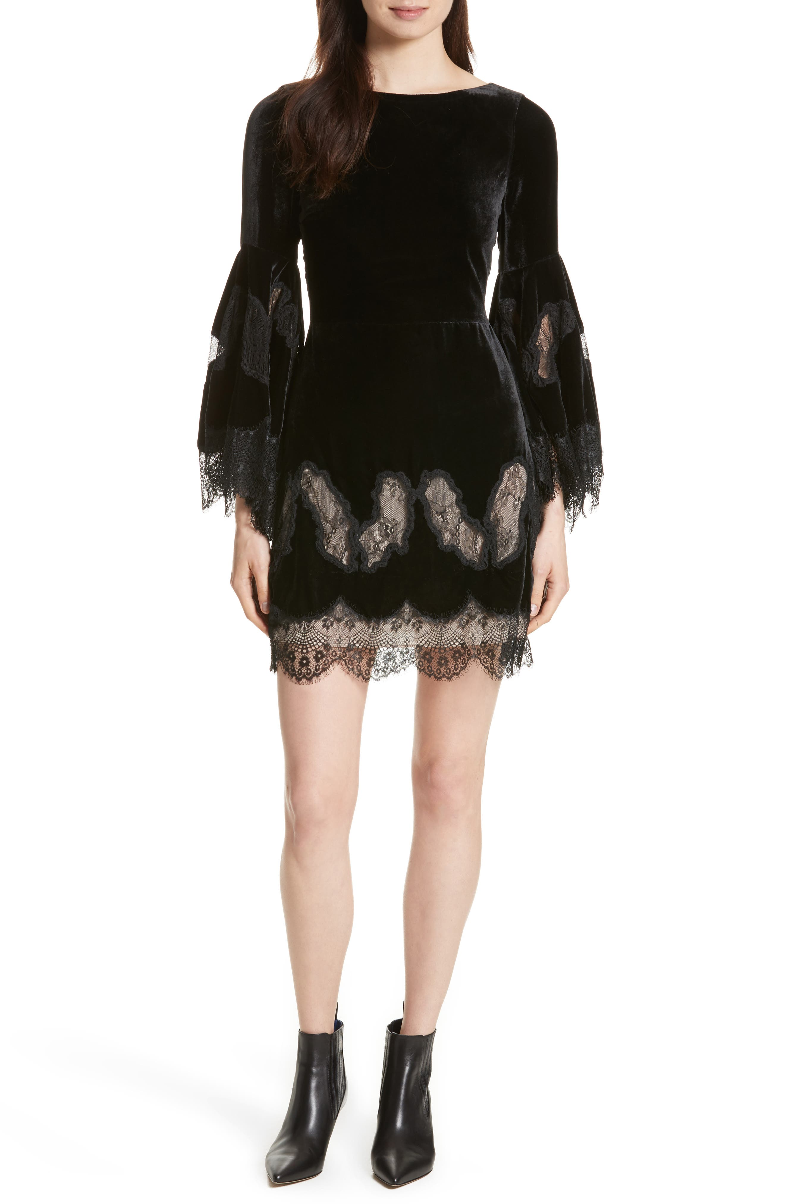 Alice + Olivia Leann Bell Sleeve Tunic Dress
