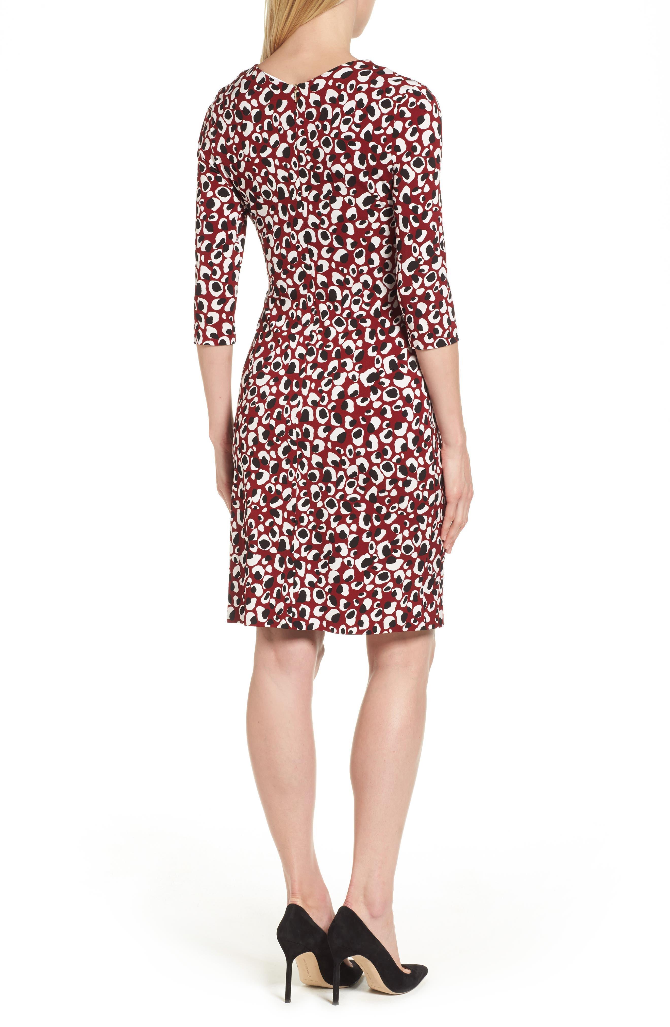Alternate Image 2  - BOSS Epona Print Crepe Sheath Dress