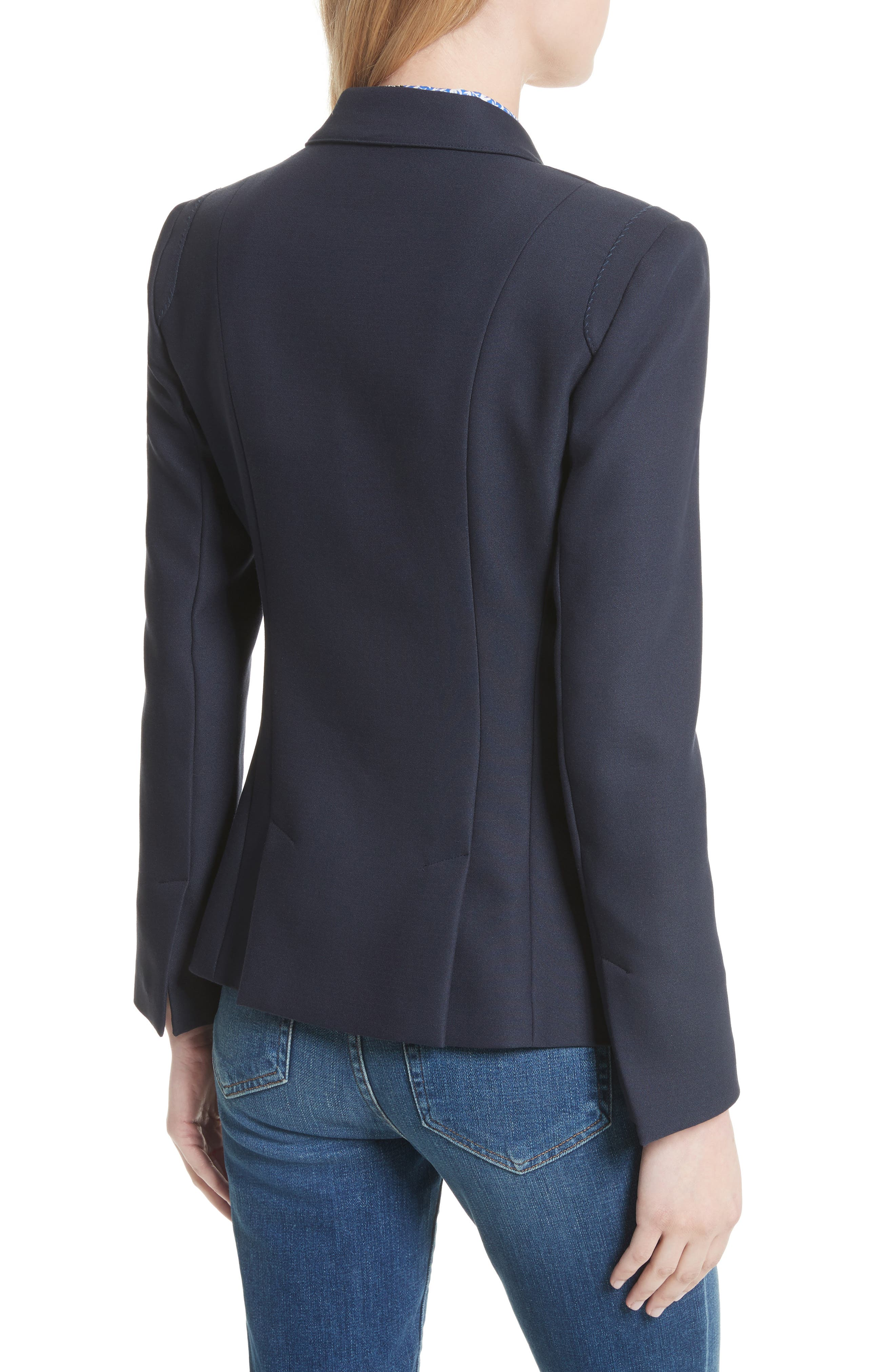 Alternate Image 3  - L'AGENCE The Marc Double Breasted Blazer