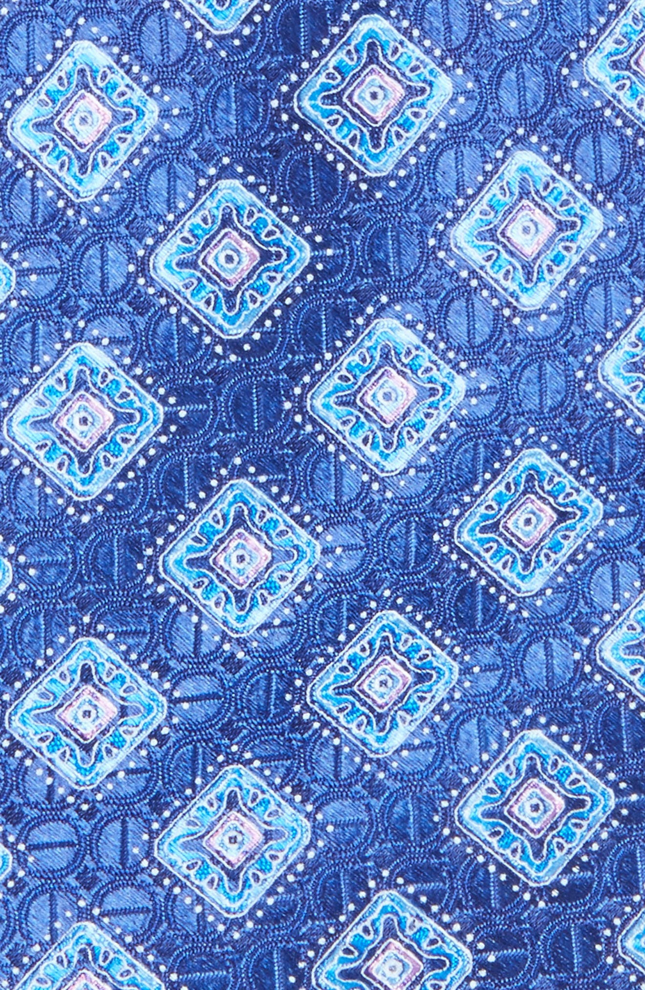 Sanders Neat Silk Tie,                             Alternate thumbnail 2, color,                             Navy