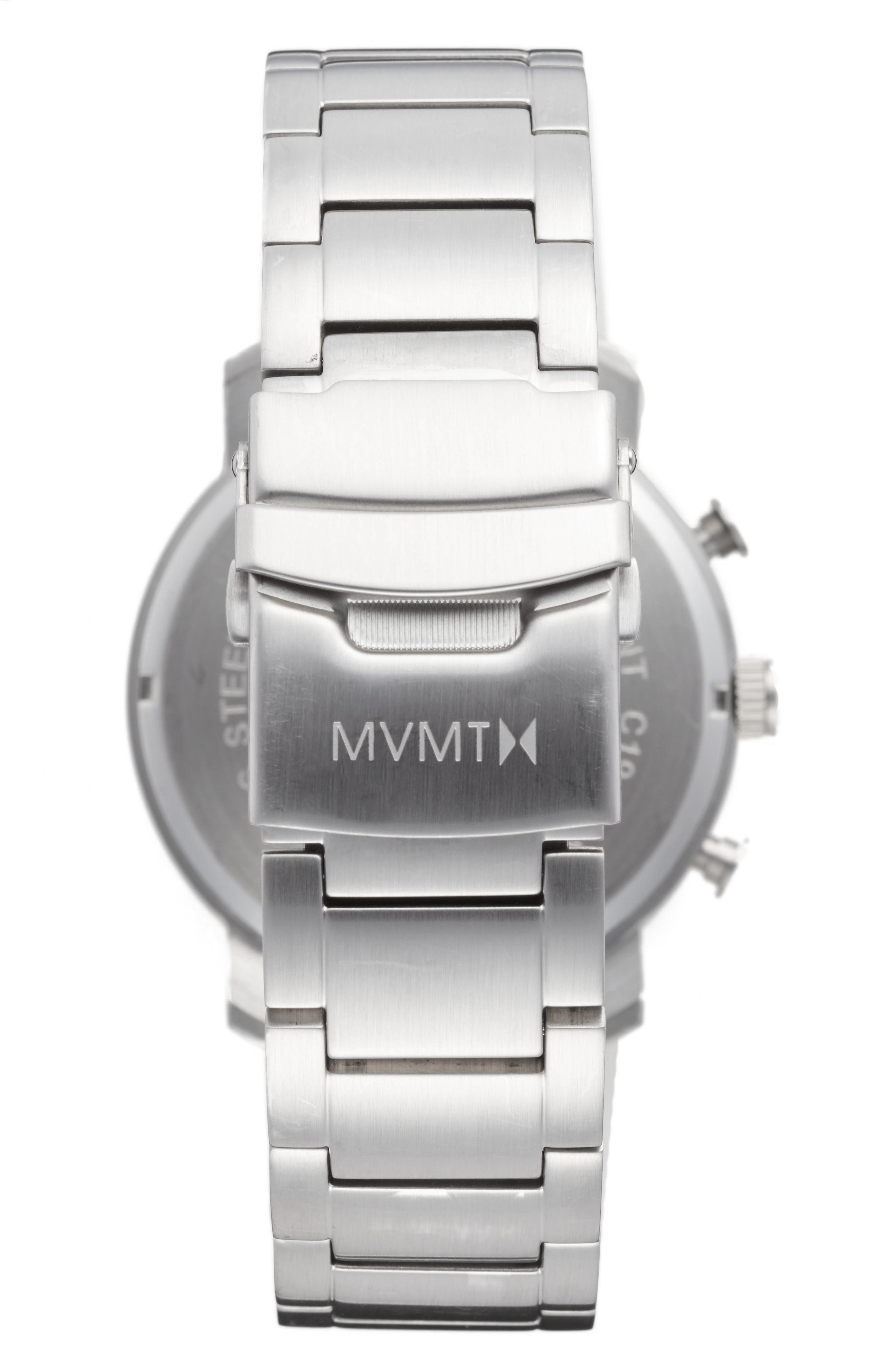 Alternate Image 2  - MVMT Chronograph Bracelet Watch, 45mm (Nordstrom Exclusive)