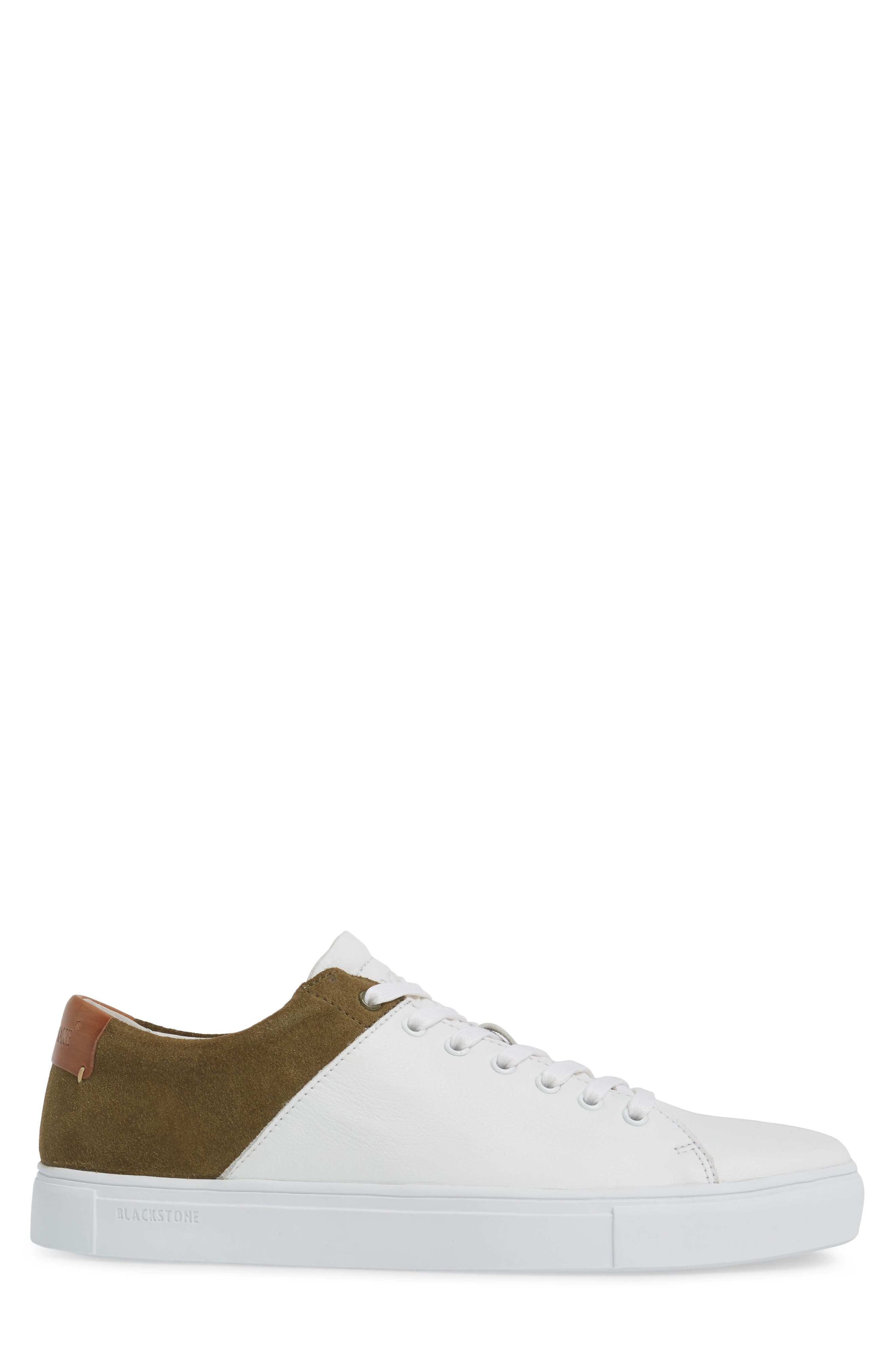 NM03 Two-Tone Sneaker,                             Alternate thumbnail 3, color,                             White/ Olive Leather