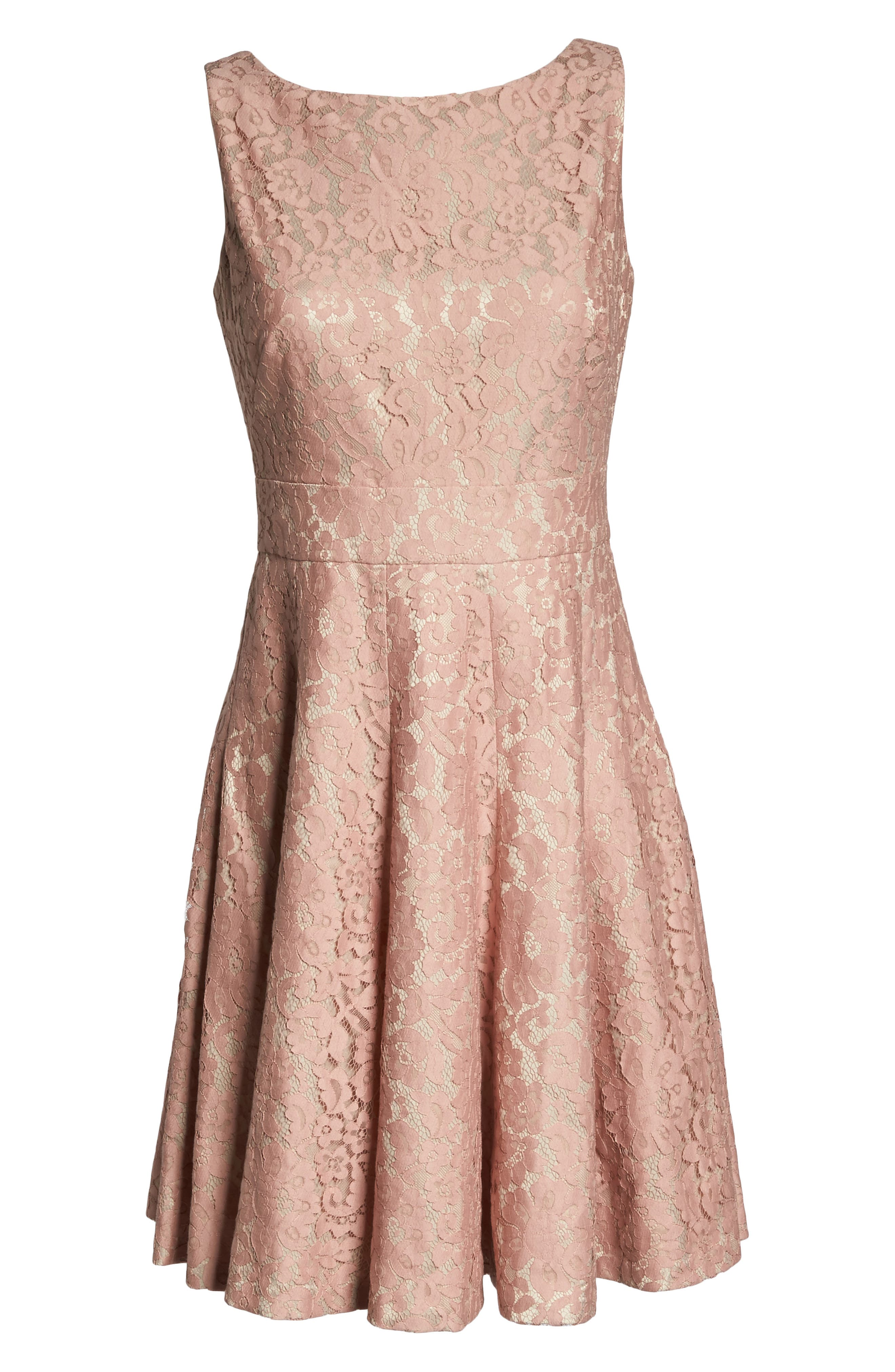 Alternate Image 6  - Eliza J Lace Fit & Flare Dress (Regular & Petite)