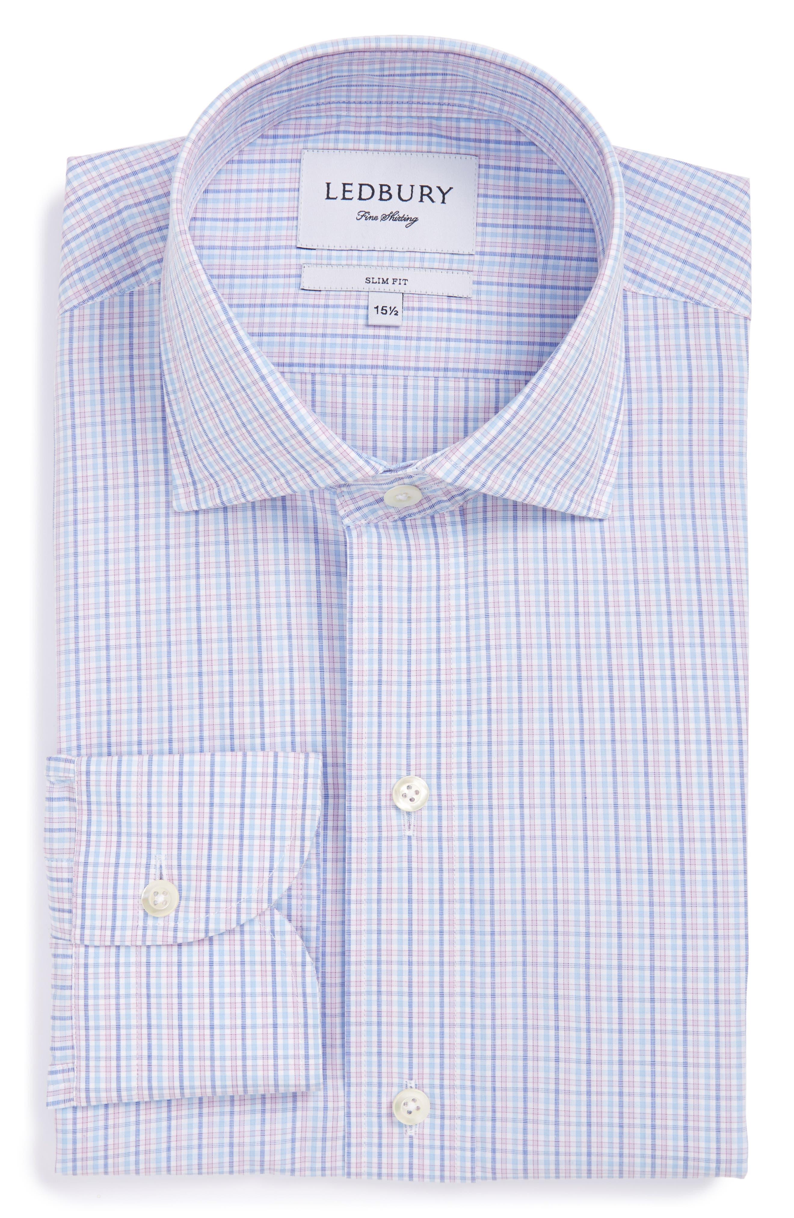 Ledbury Supercore The Eldridge Check Slim Fit Dress Shirt