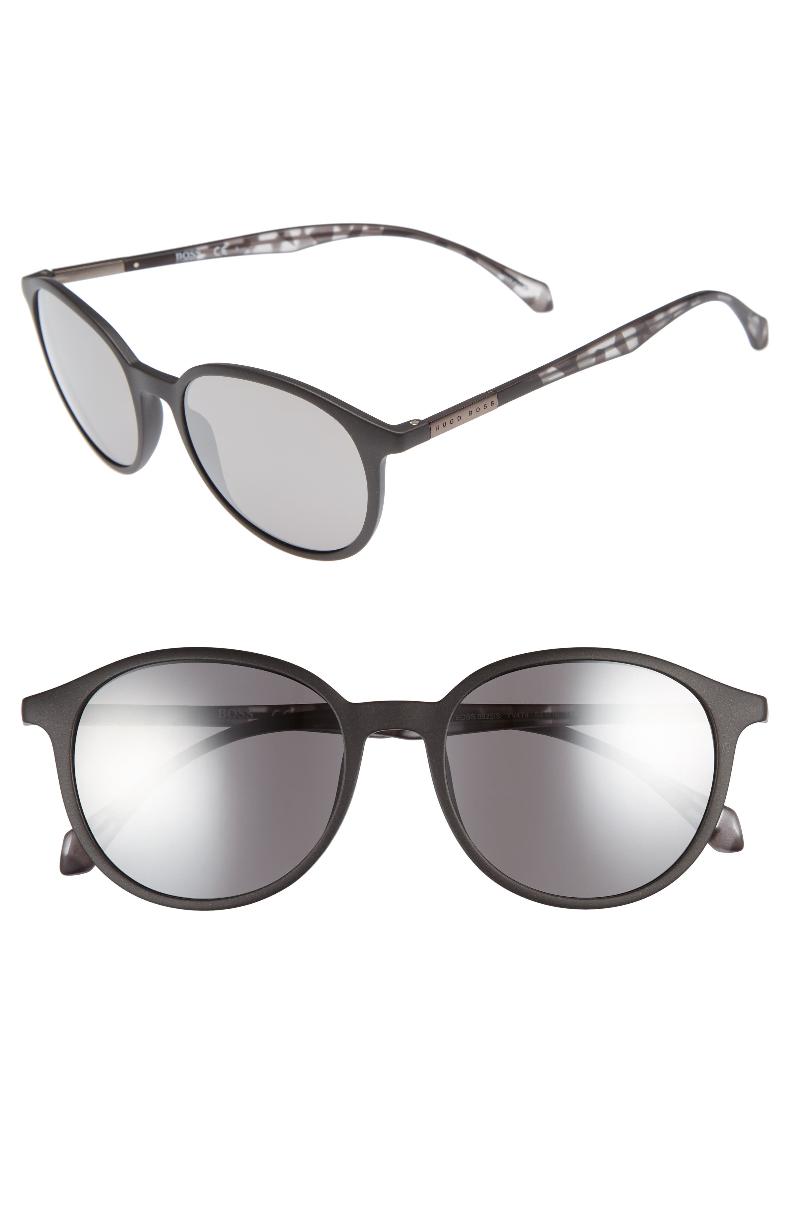 53mm Sunglasses,                         Main,                         color, Black Grey Havana