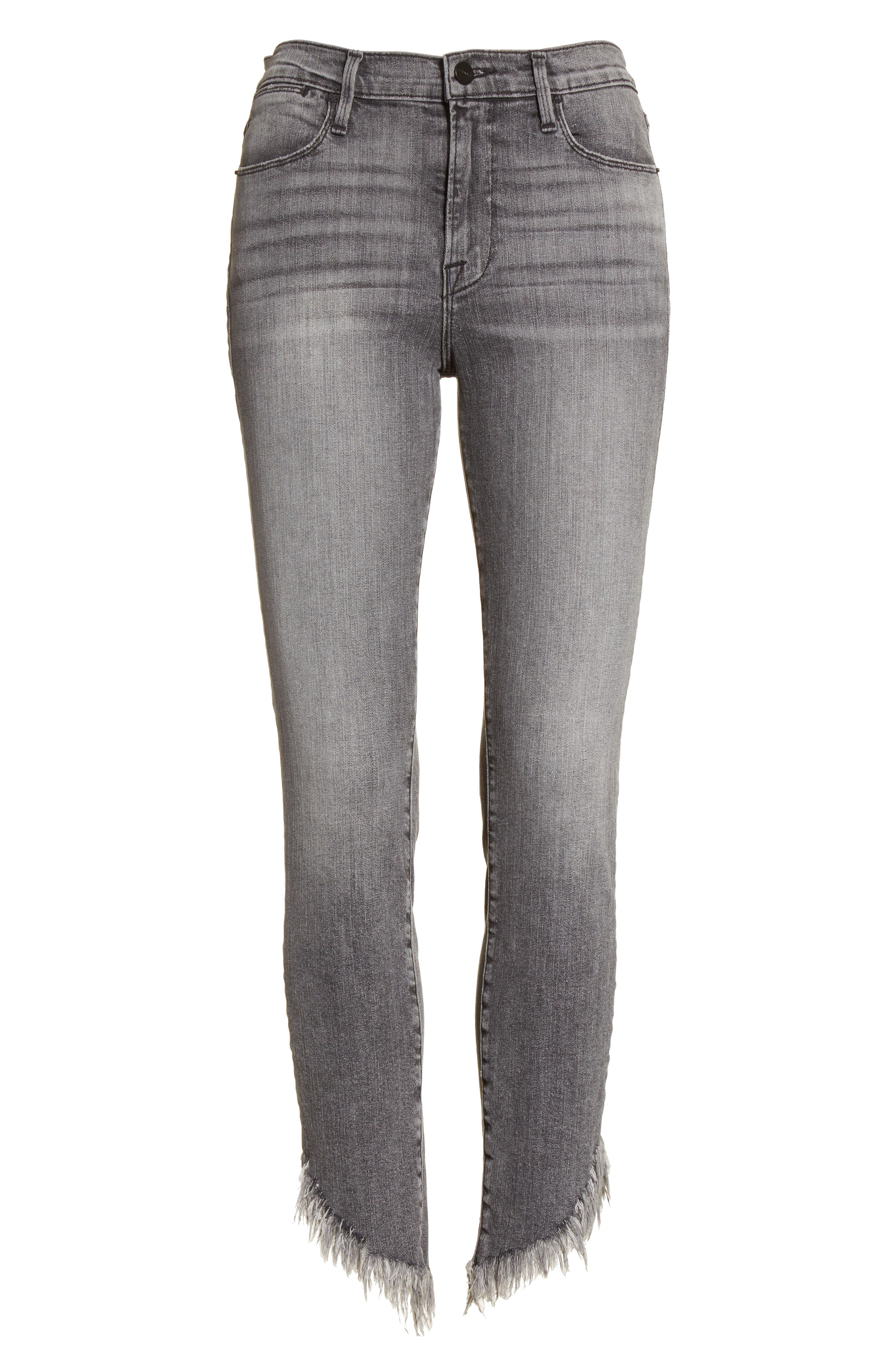 Alternate Image 7  - FRAME Le High Shredded Skinny Jeans (Berwick)