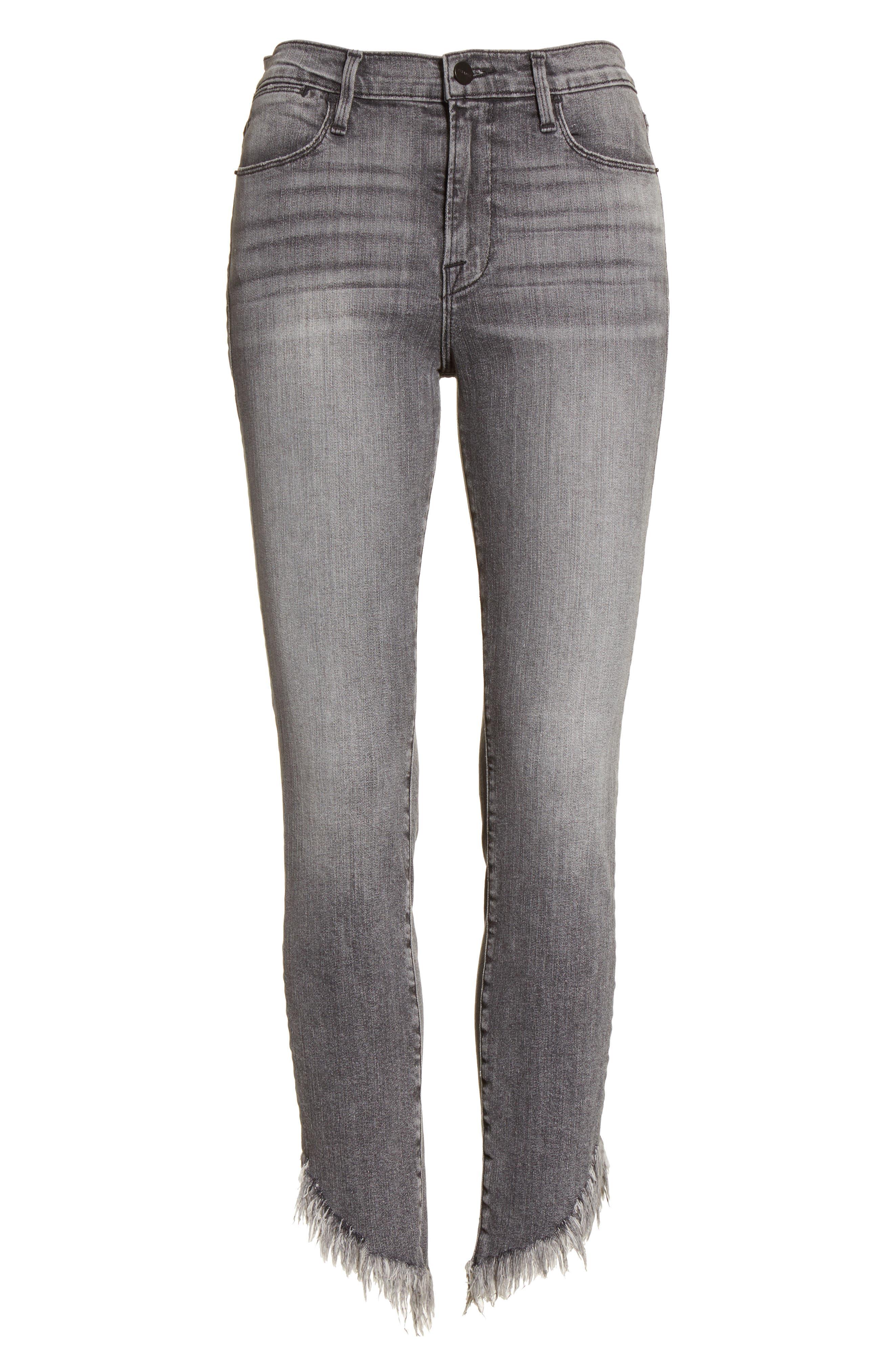 Le High Shredded Skinny Jeans,                             Alternate thumbnail 7, color,                             Berwick