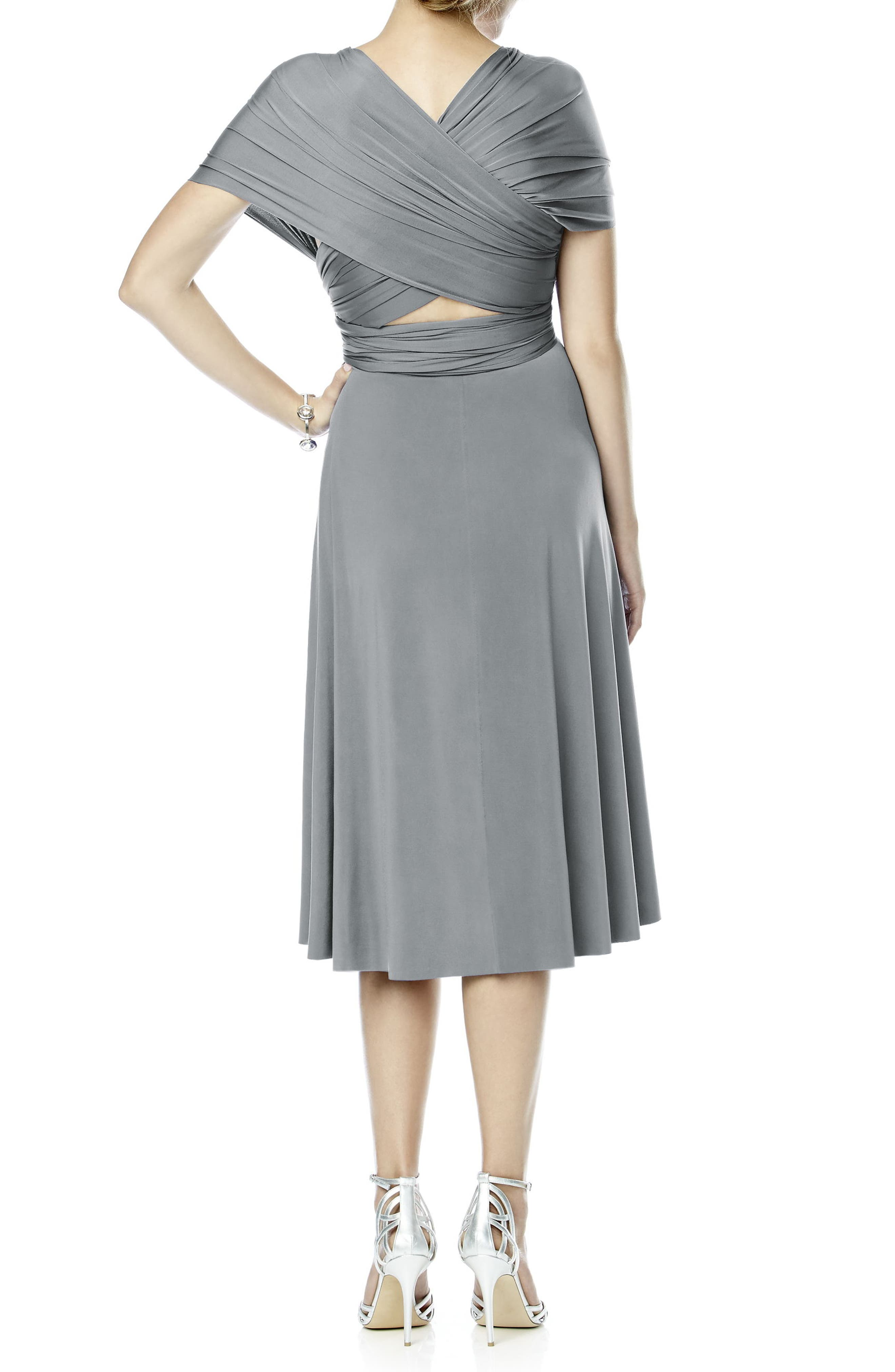 Alternate Image 2  - Dessy Collection Convertible Wrap Tie Surplice Jersey Dress