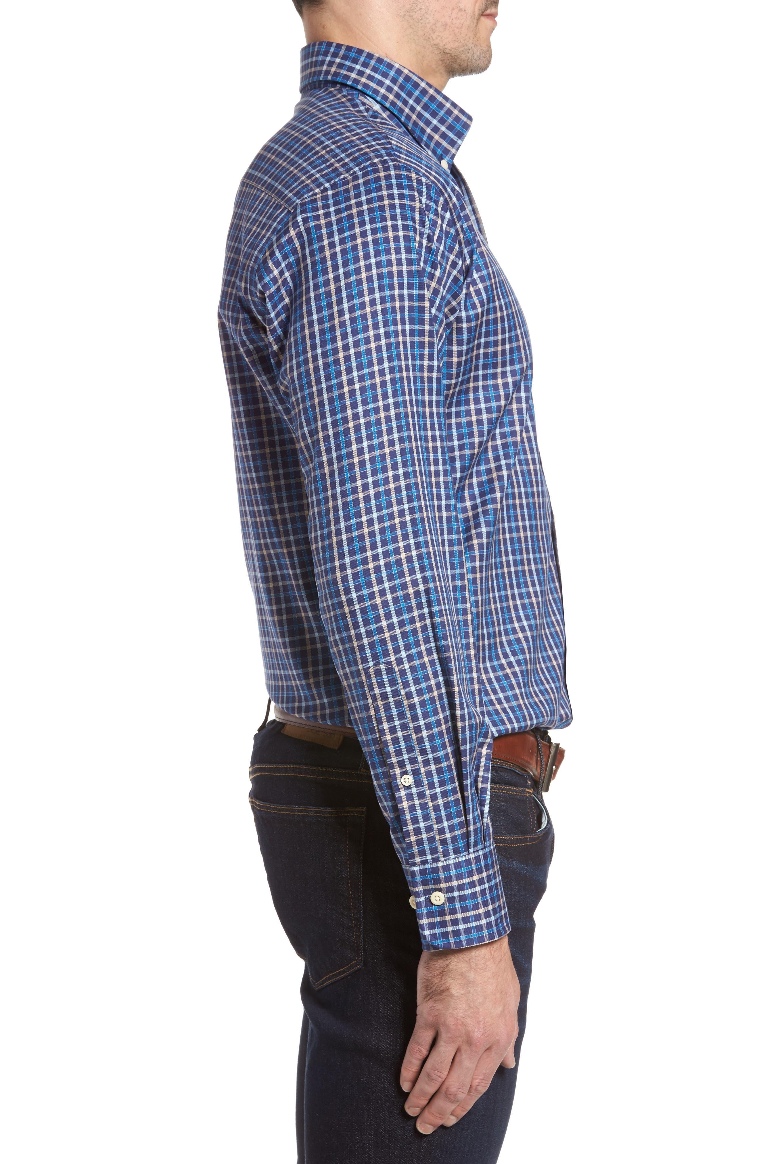 Alternate Image 3  - Peter Millar Nanoluxe Pinwheel Regular Fit Check Sport Shirt