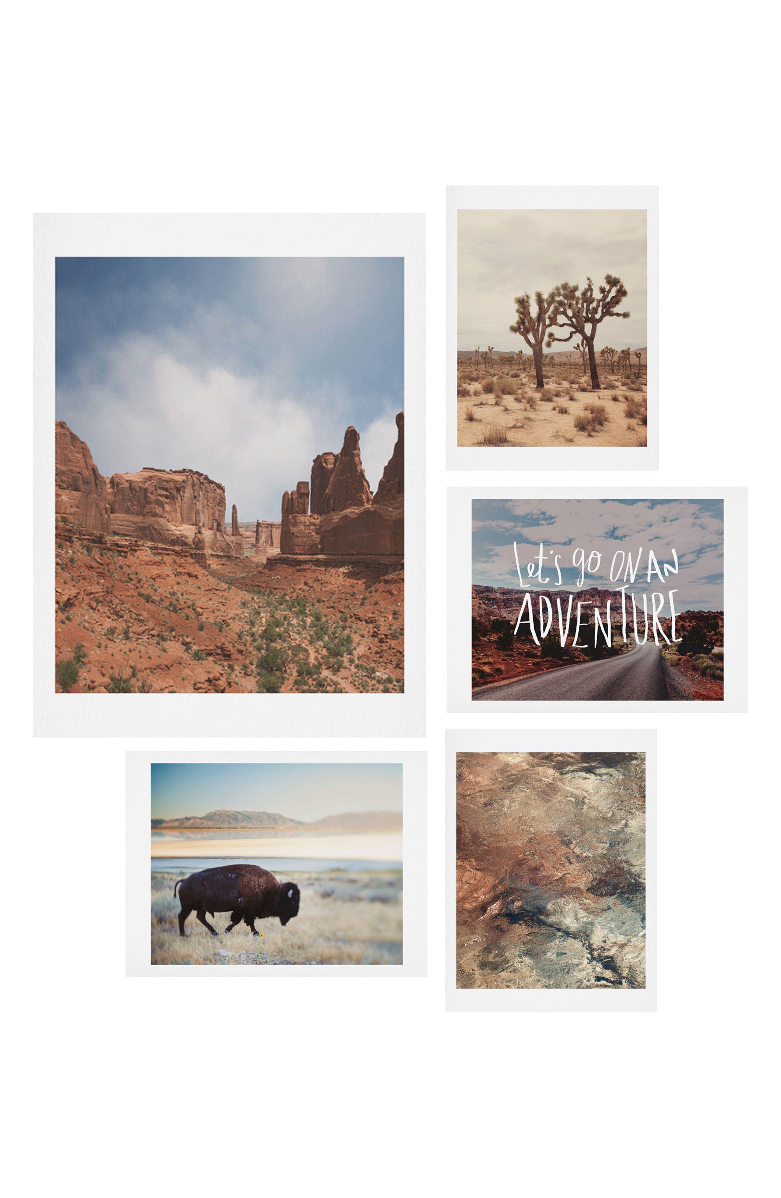 Main Image - Deny Designs Desert Roadtrip Five-Piece Gallery Wall Art Print Set