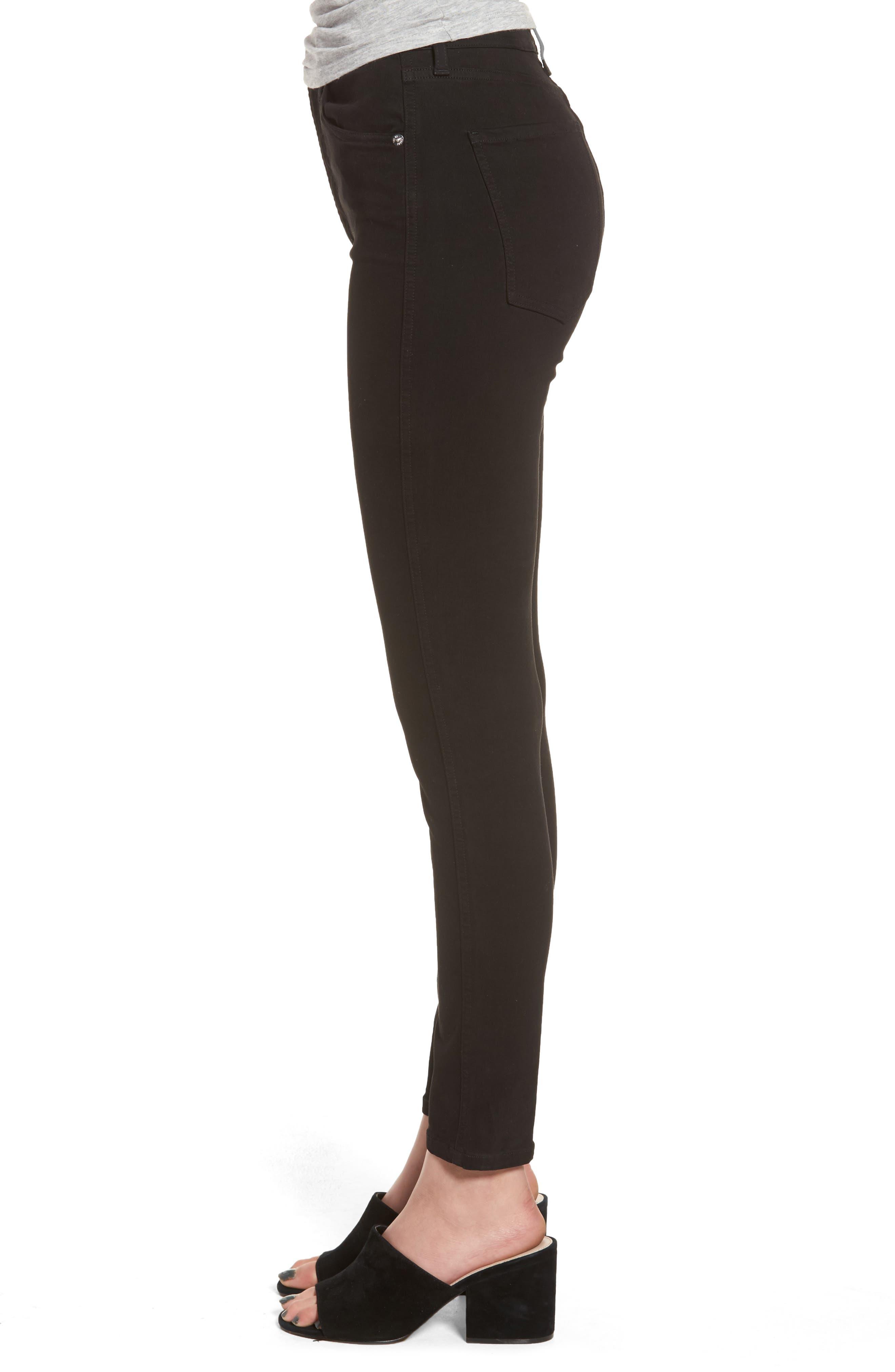 Roxanne Super High Rise Skinny Jeans,                             Alternate thumbnail 3, color,                             Jet