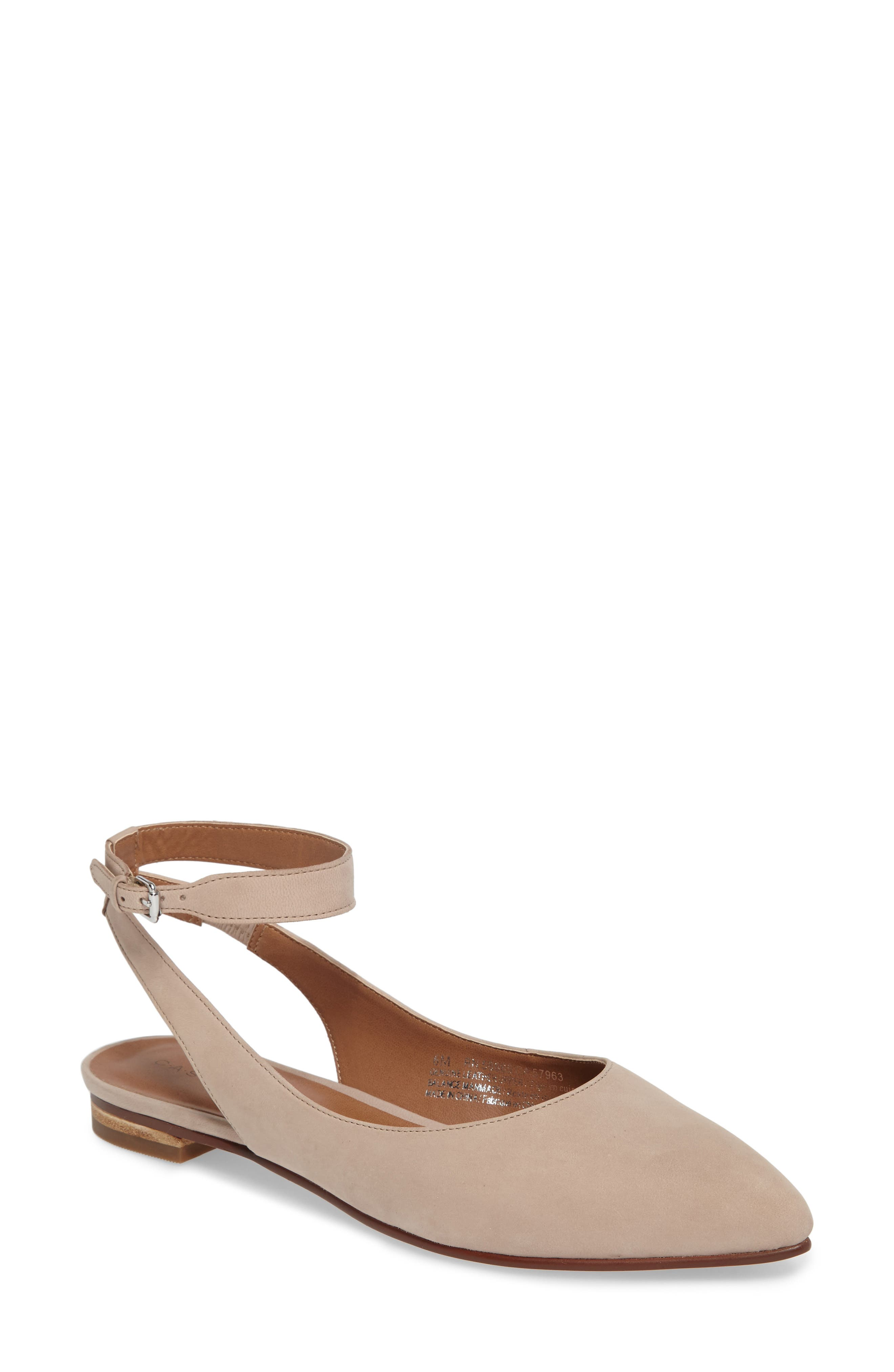 CASLON<SUP>®</SUP> Abby Ankle Strap Flat