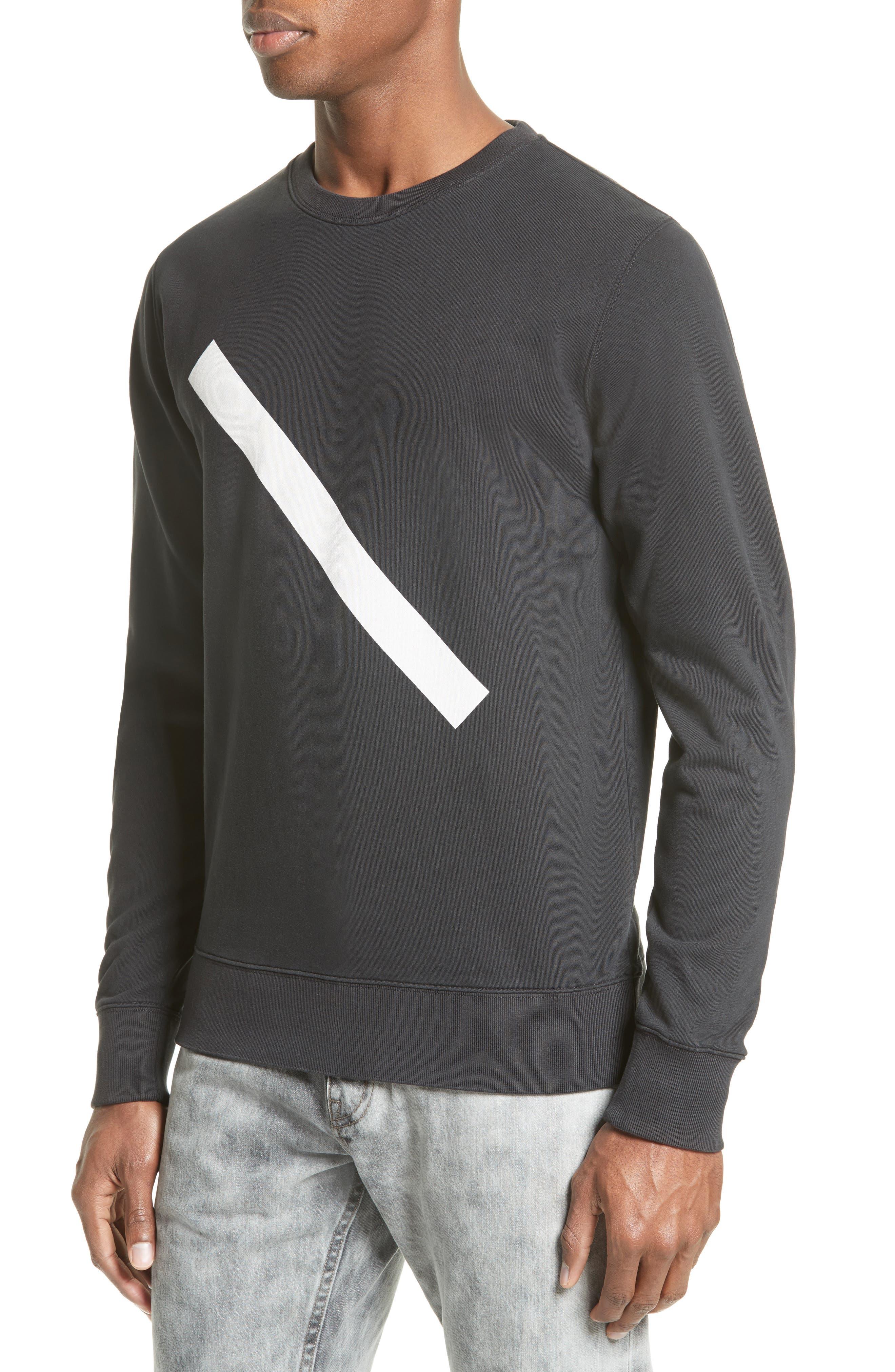 Alternate Image 4  - Saturdays NYC Slash Crewneck Sweatshirt