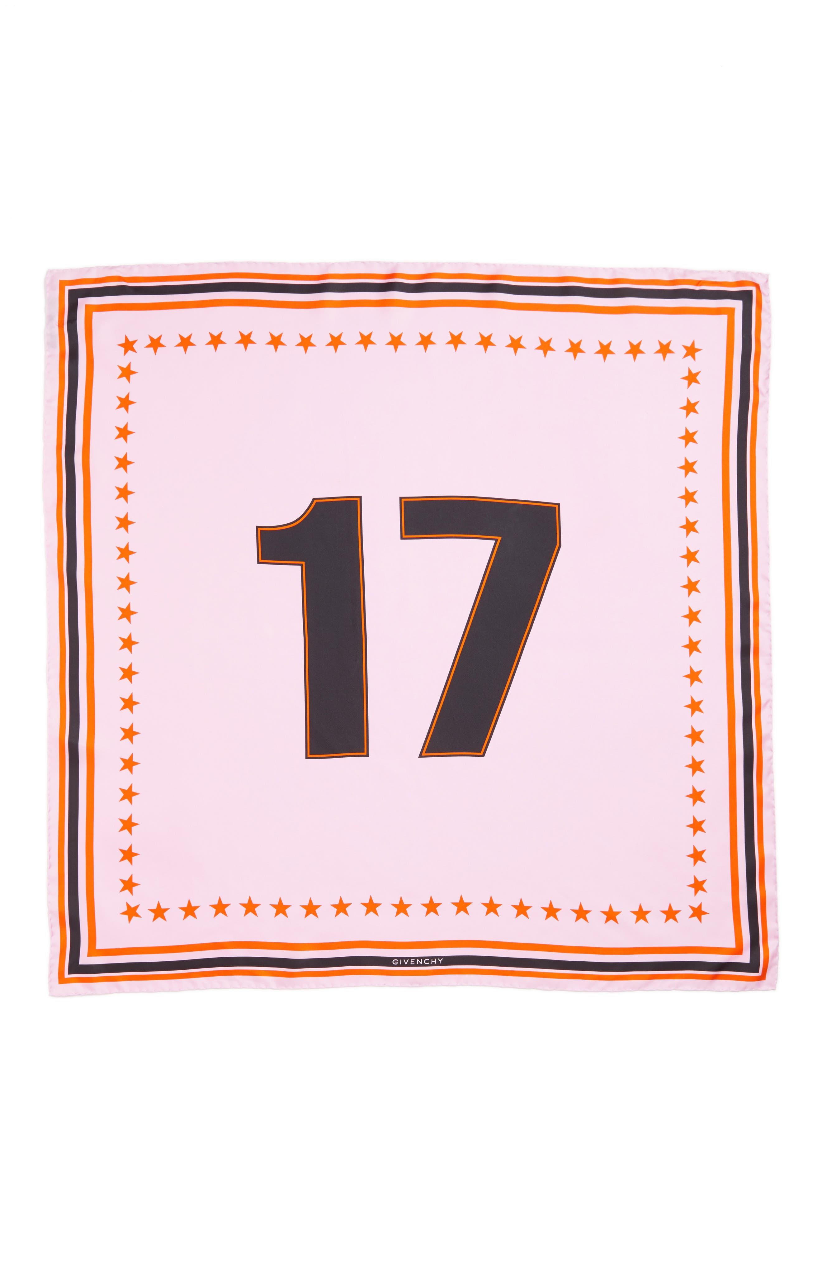 Main Image - Givenchy '17' Square Silk Scarf