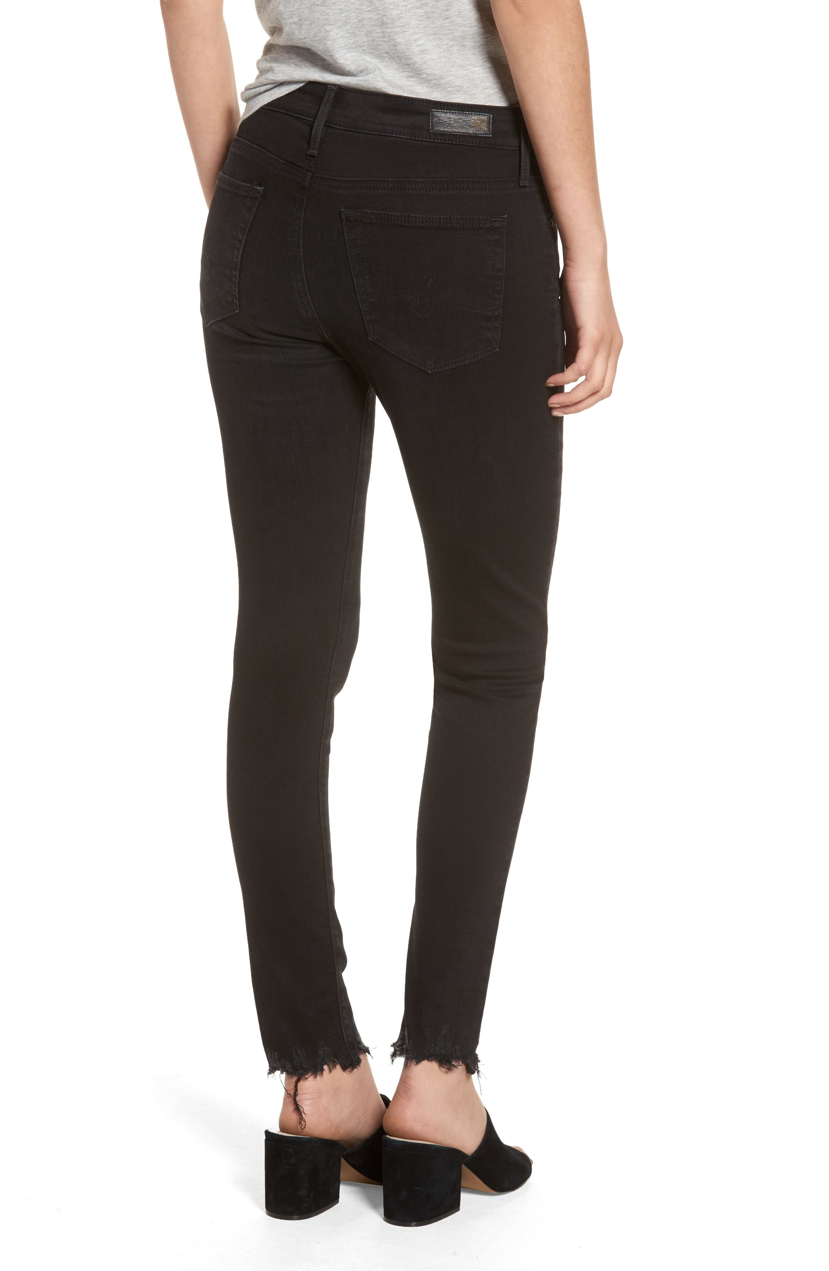 Alternate Image 2  - AG Farrah High Waist Ankle Skinny Jeans (Black Storm)