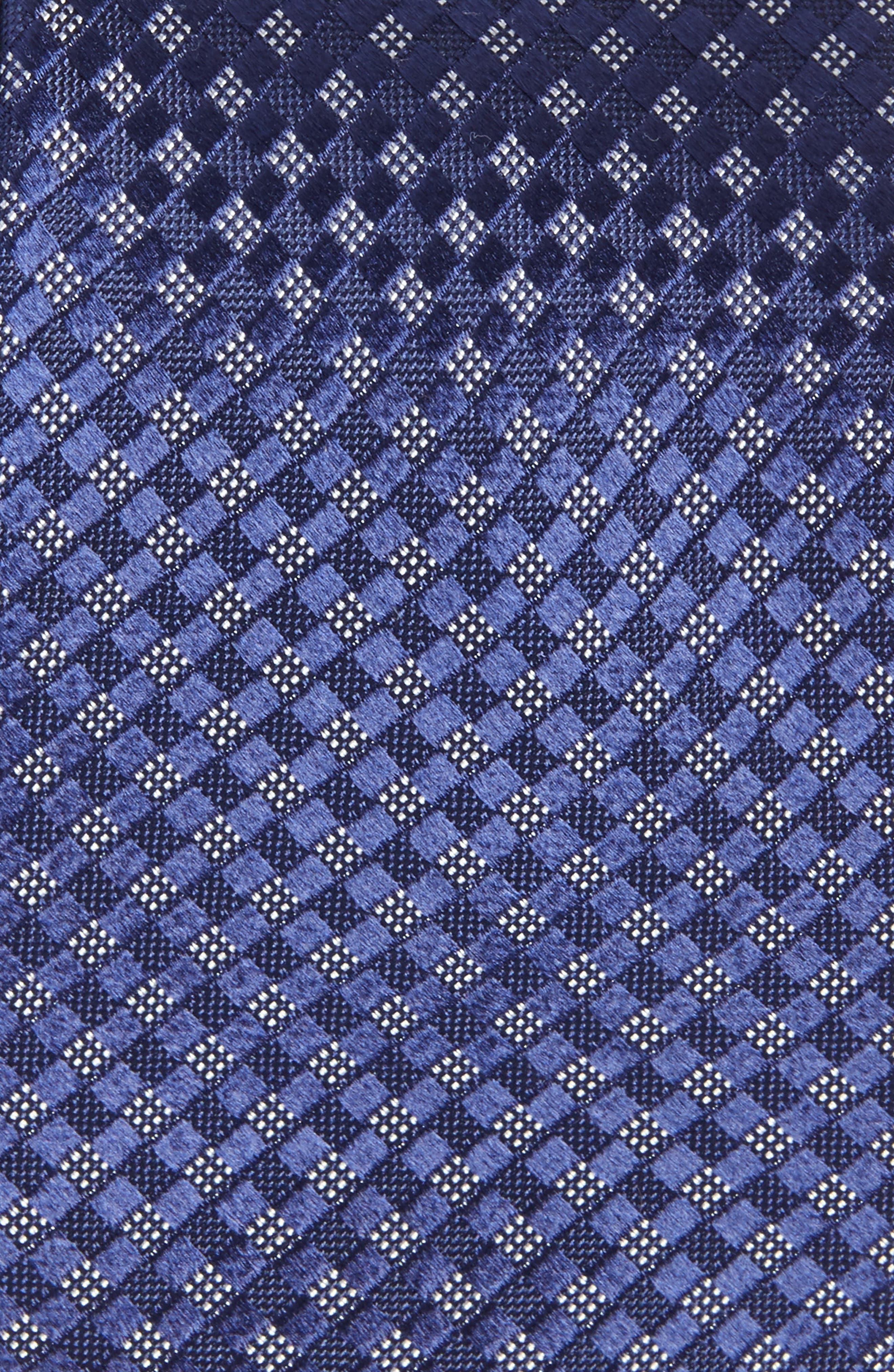 Artesia Check Silk Tie,                             Alternate thumbnail 2, color,                             Navy