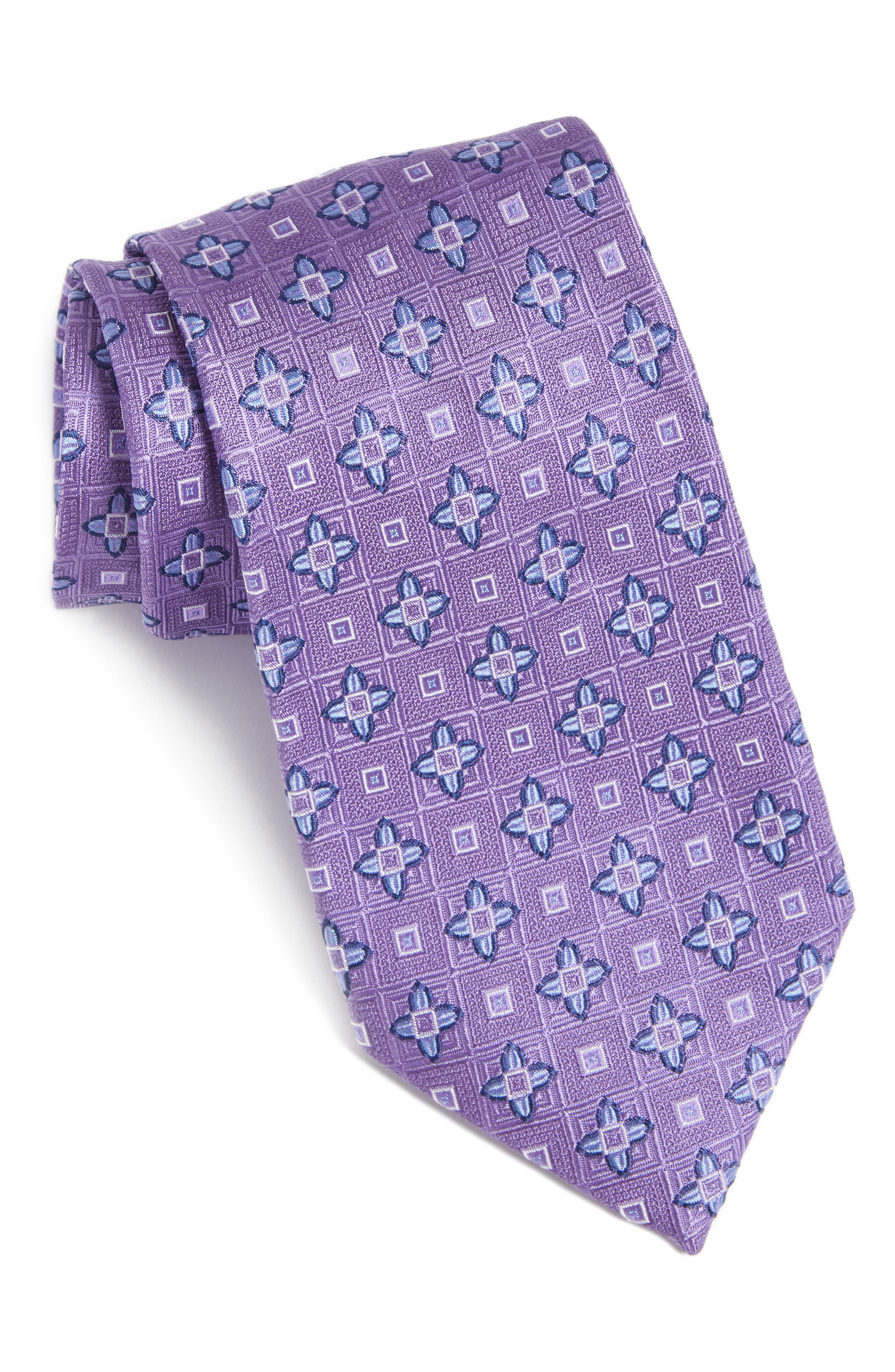 NORDSTROM MENS SHOP Floral Medallion Silk Tie