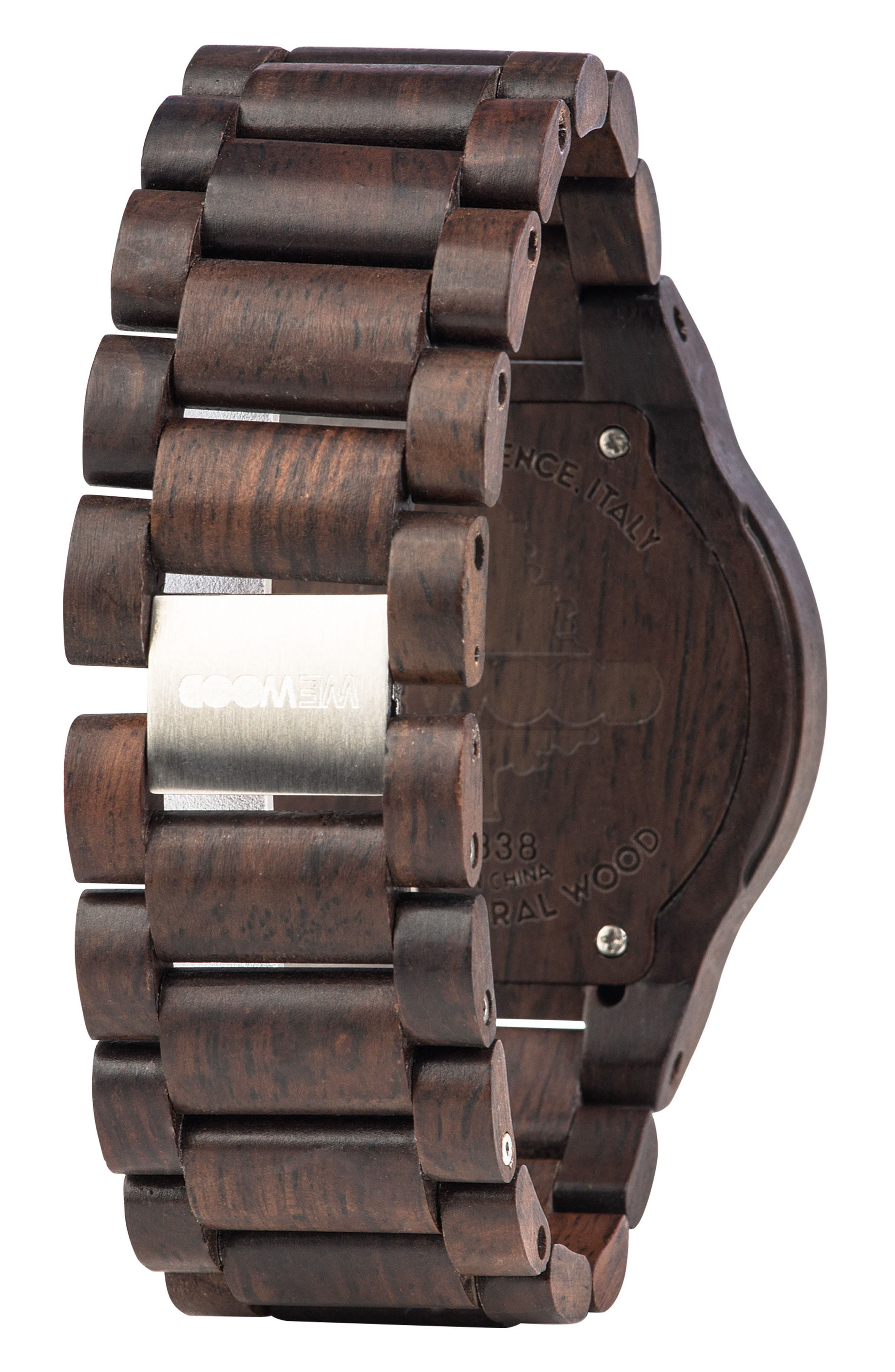 Alternate Image 2  - WeWOOD Kos Multifunctional Wood Bracelet Watch, 46mm