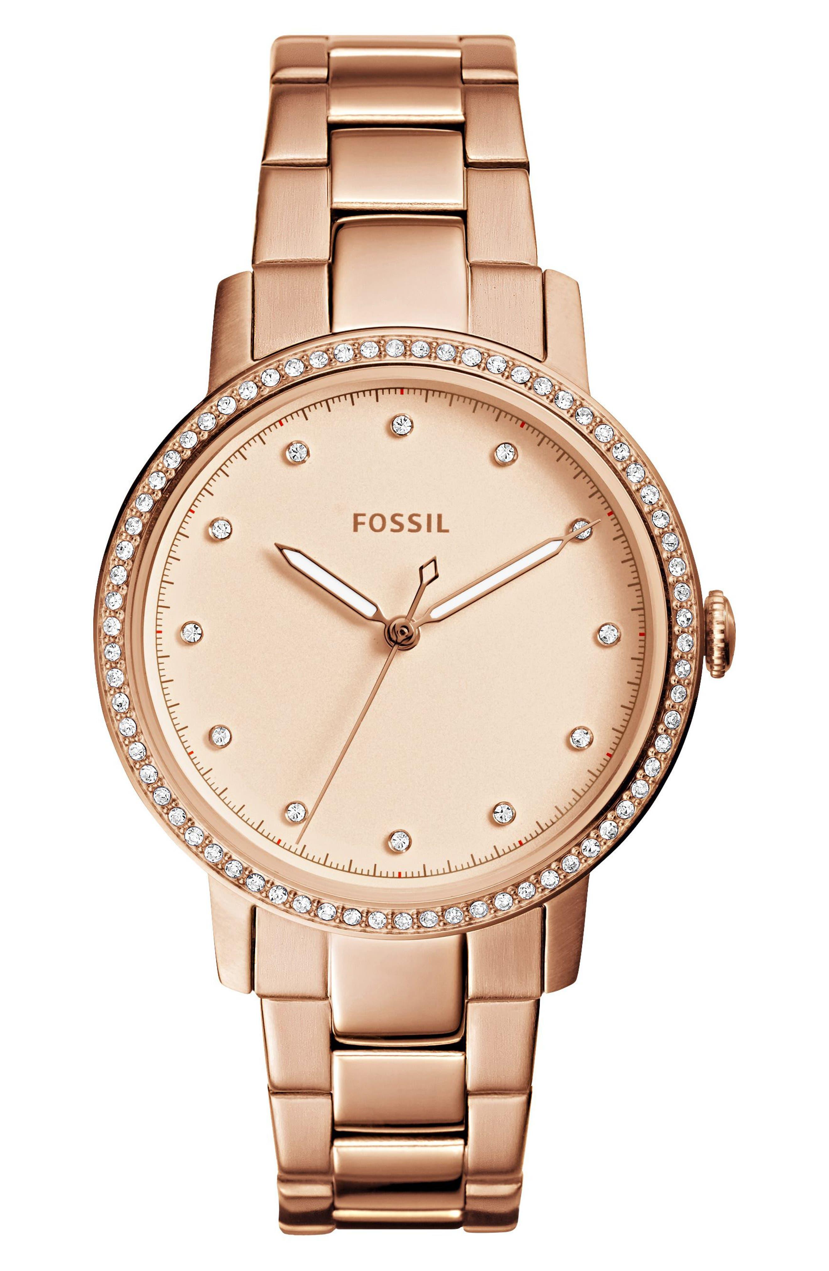 Main Image - Fossil Neely Bracelet Watch, 35mm