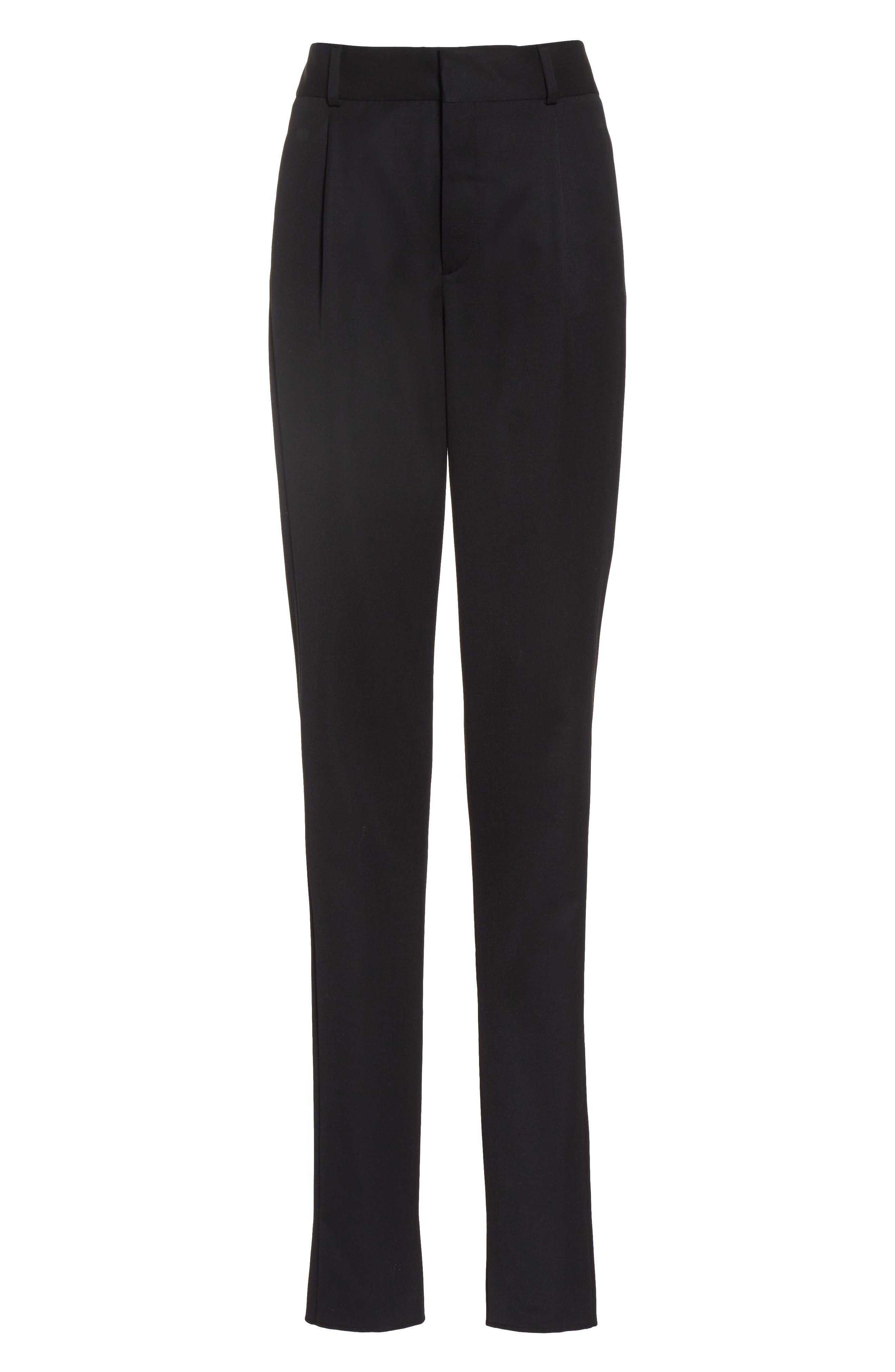 Alternate Image 4  - Saint Laurent Wool Pleated Pants