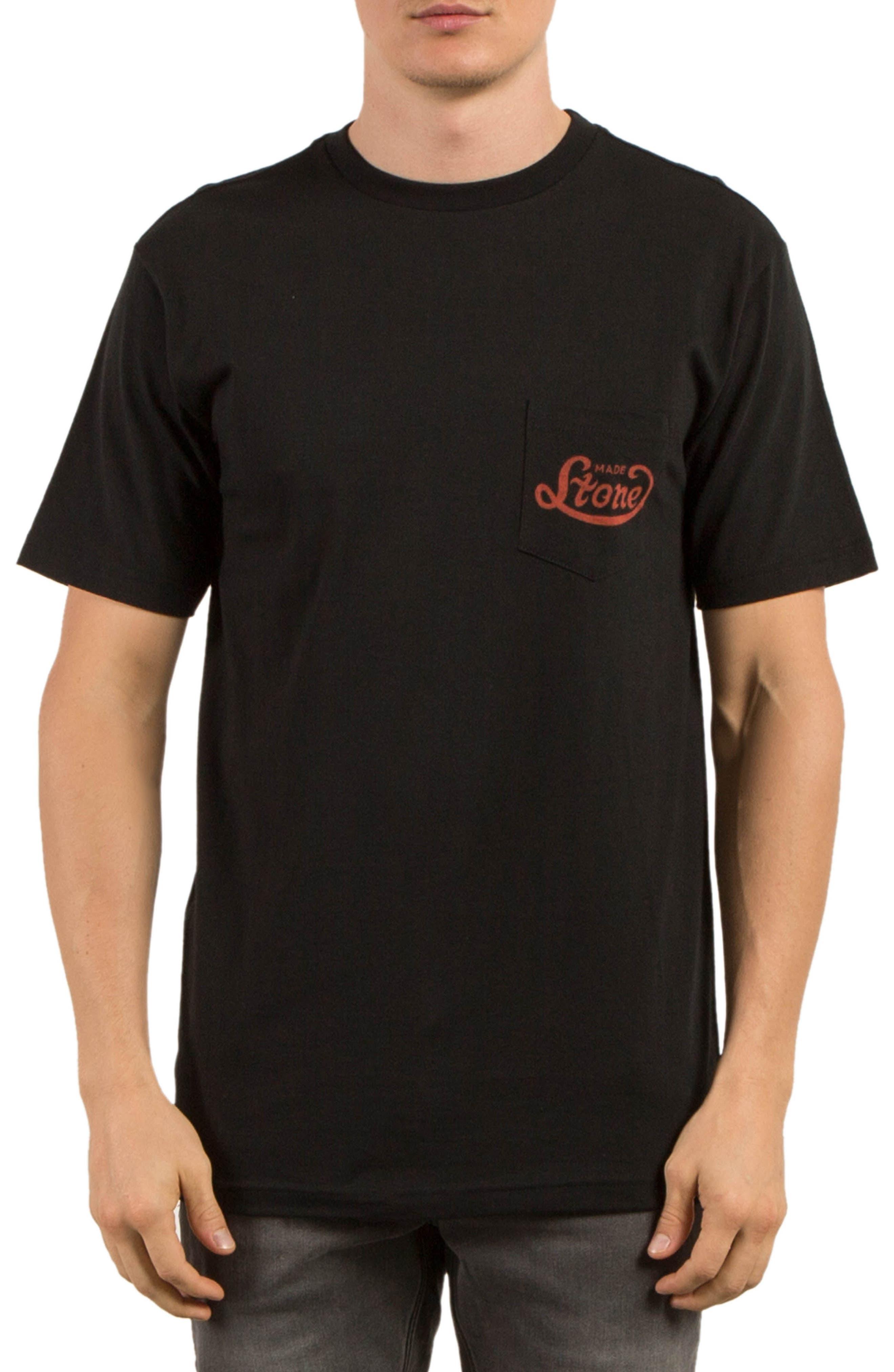 Strike Graphic T-Shirt,                             Main thumbnail 1, color,                             Black