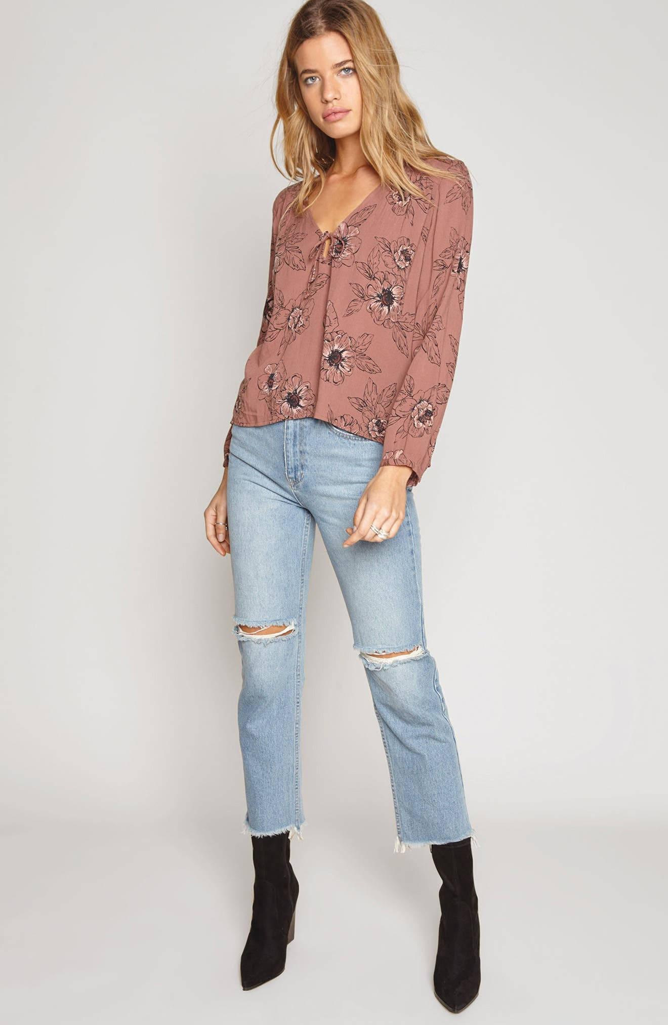 Bleeker Blouse,                             Alternate thumbnail 2, color,                             Moccasin