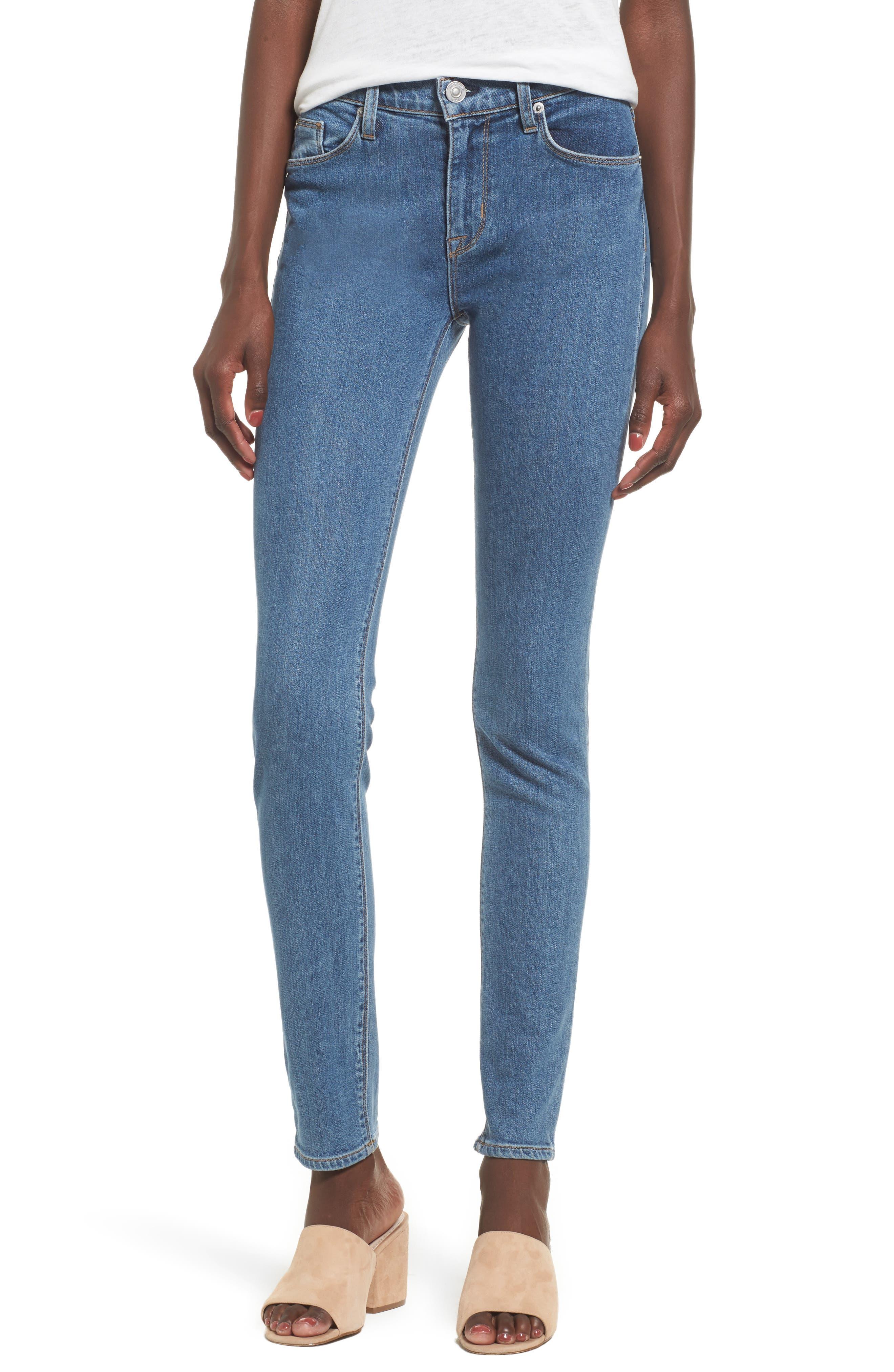 Main Image - Hudson Jeans Nico Shredded Skinny Jeans