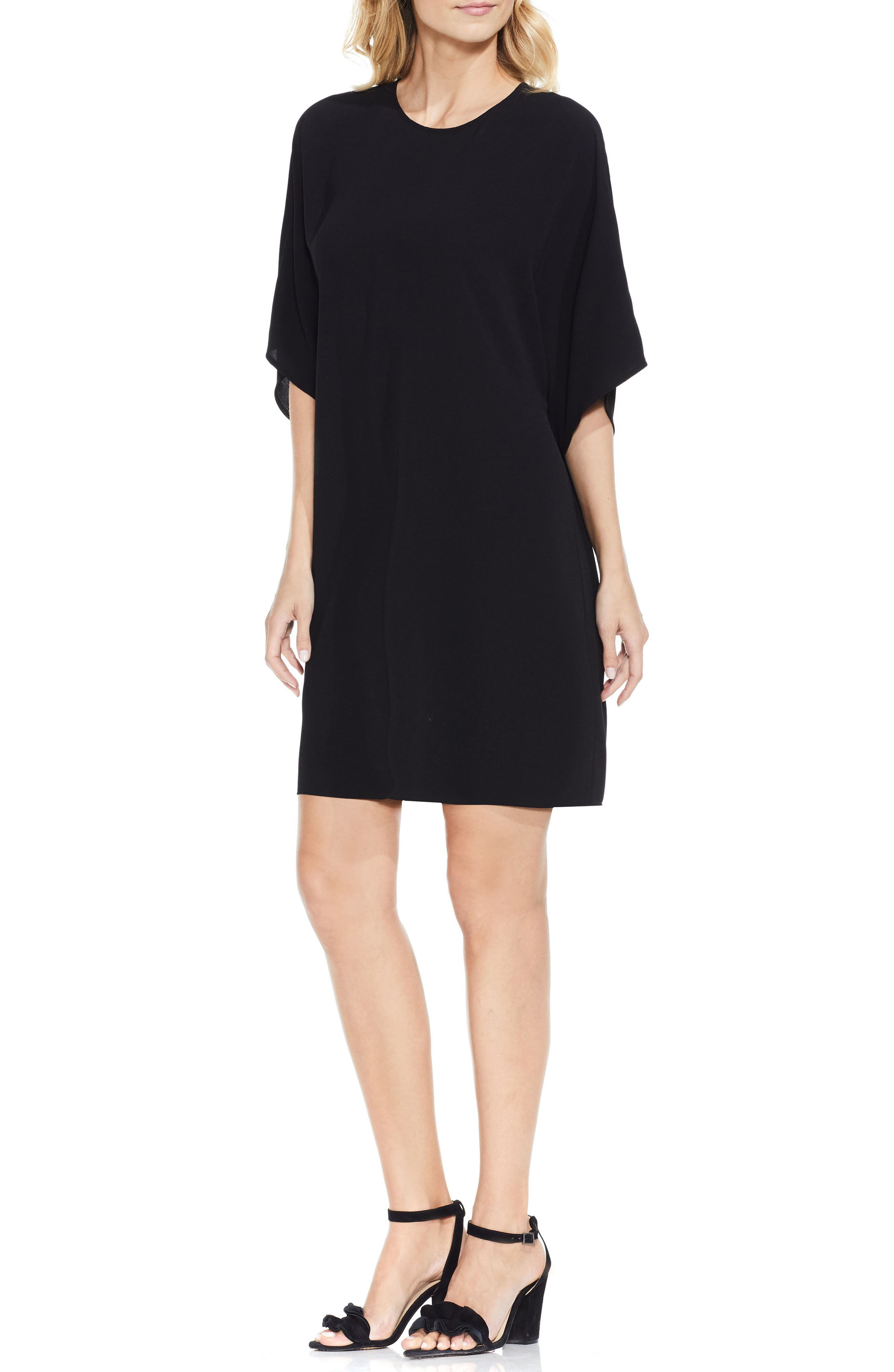 Dolman Sleeve Dress,                             Alternate thumbnail 2, color,                             Rich Black