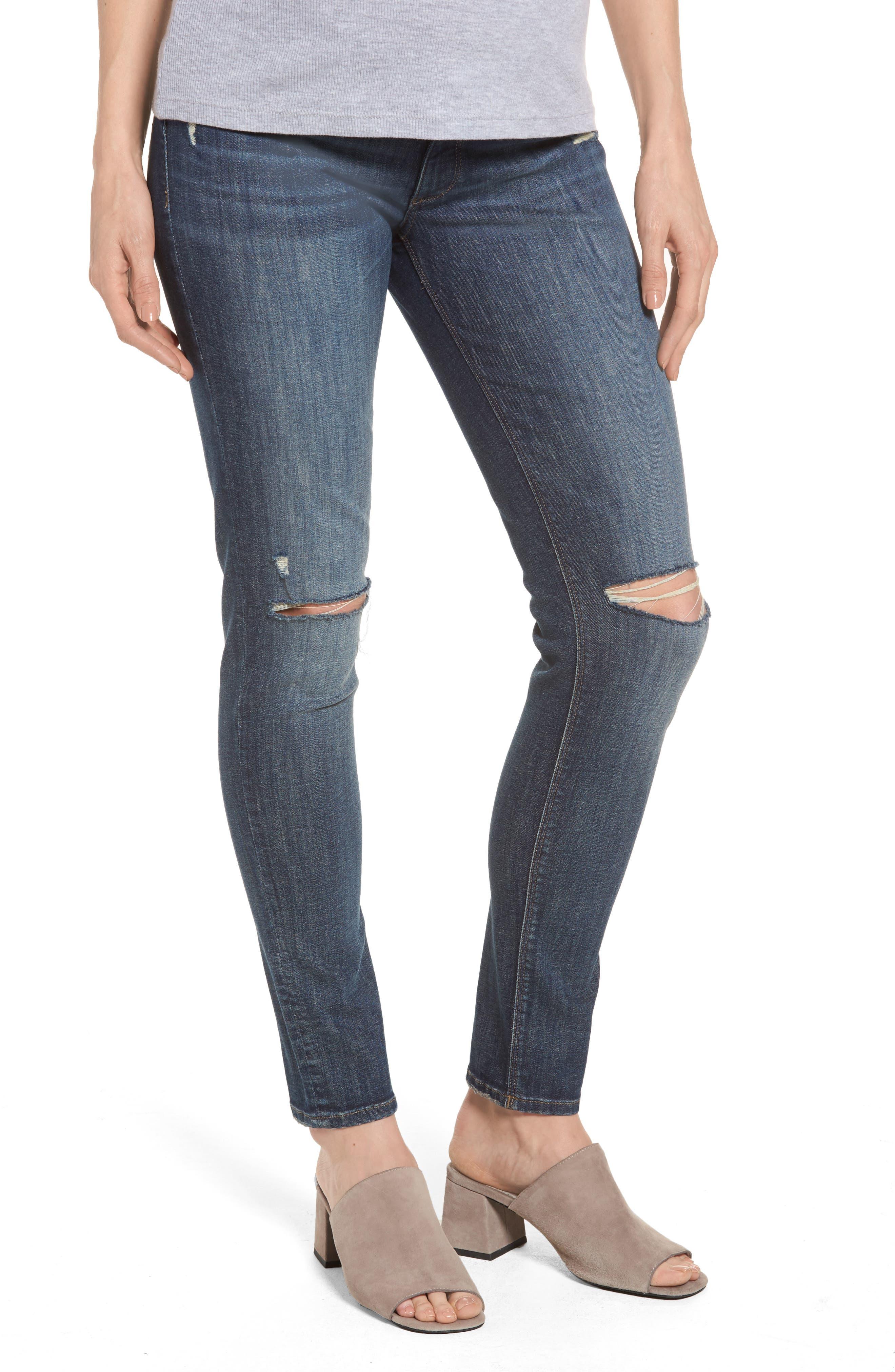 Emma Power Legging Maternity Jeans,                         Main,                         color, Heath