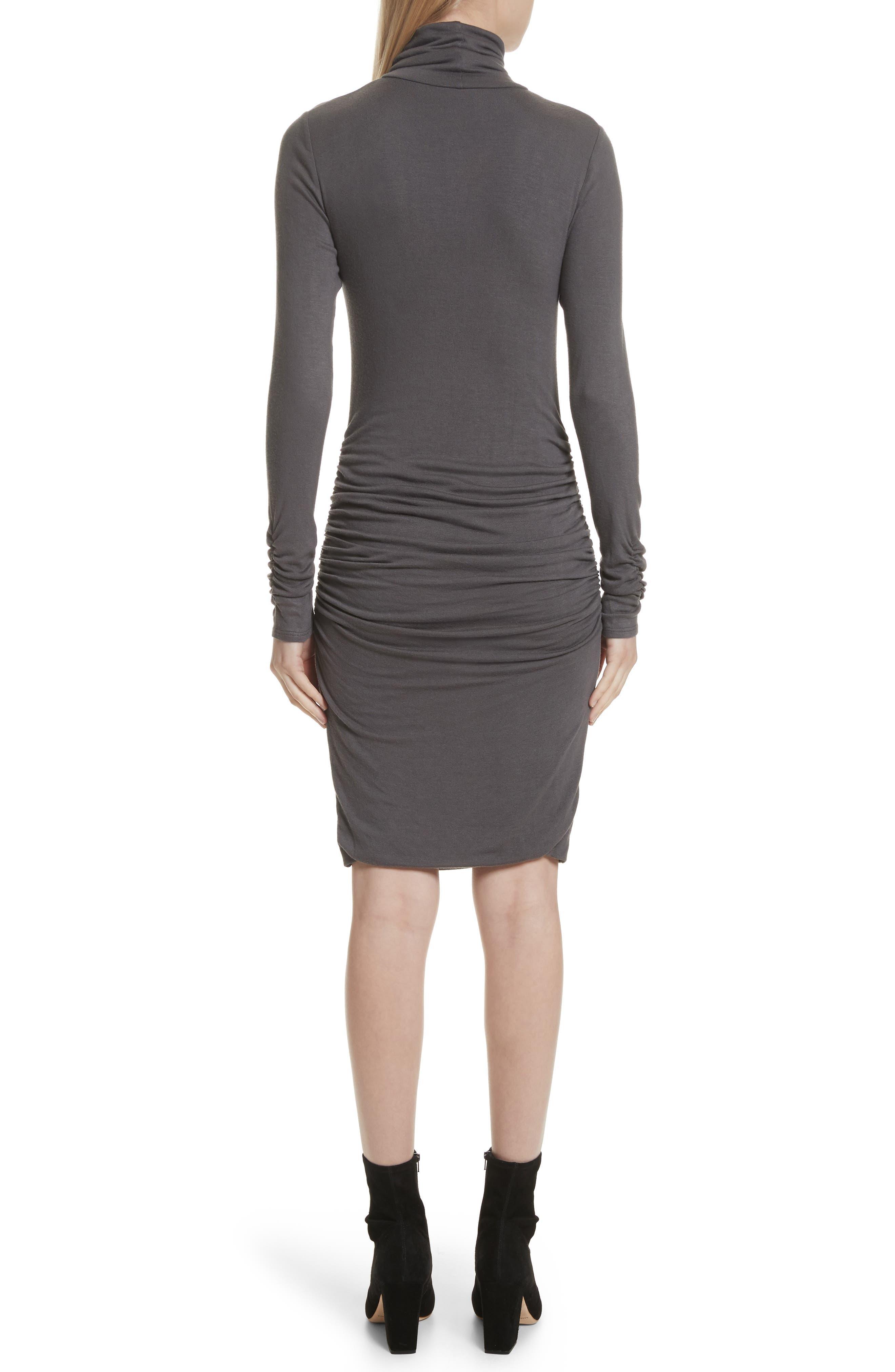Body-Con Turtleneck Dress,                             Alternate thumbnail 2, color,                             Gunmetal