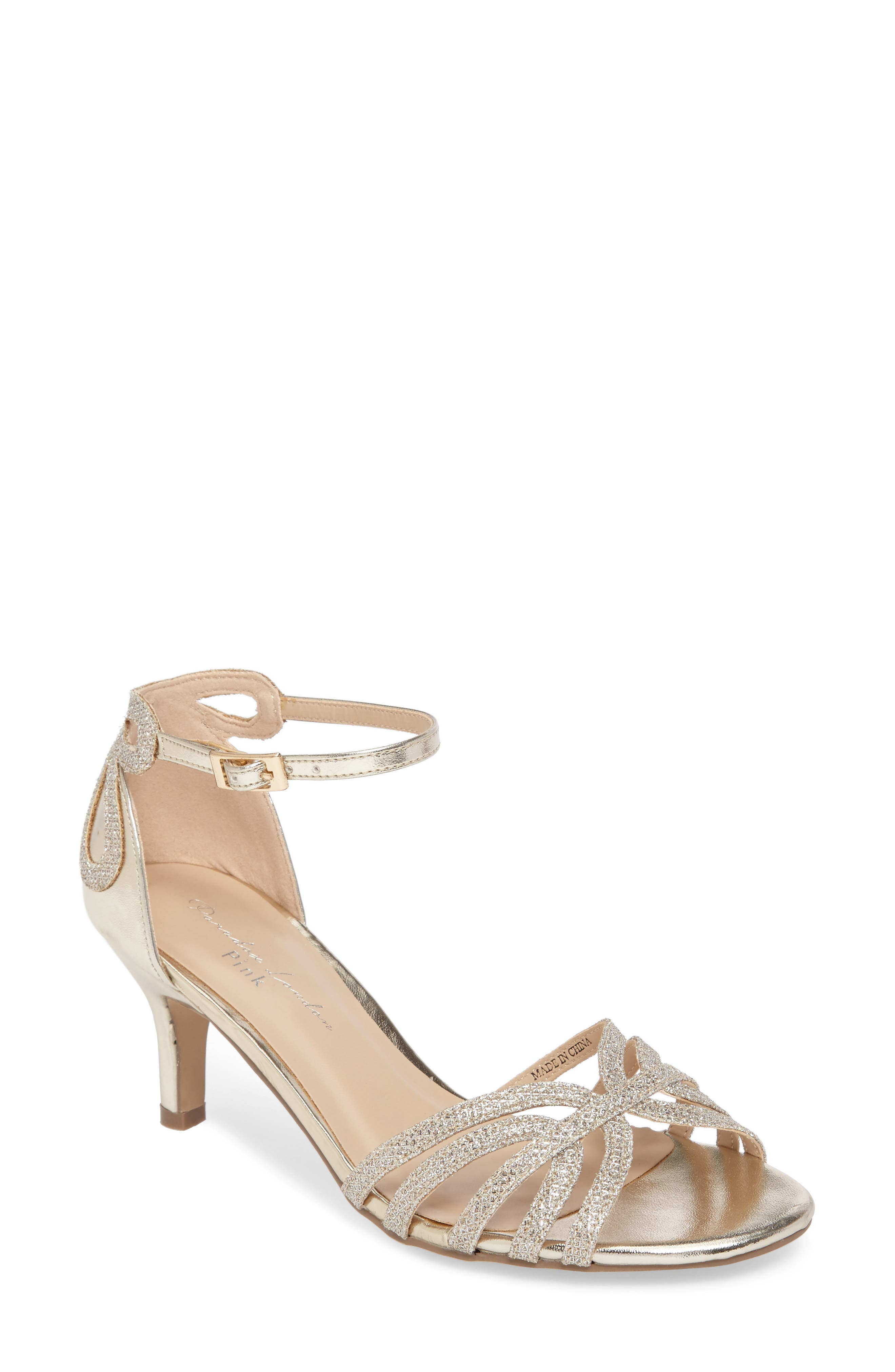 Melby Ankle Strap Sandal,                             Main thumbnail 1, color,                             Champagne