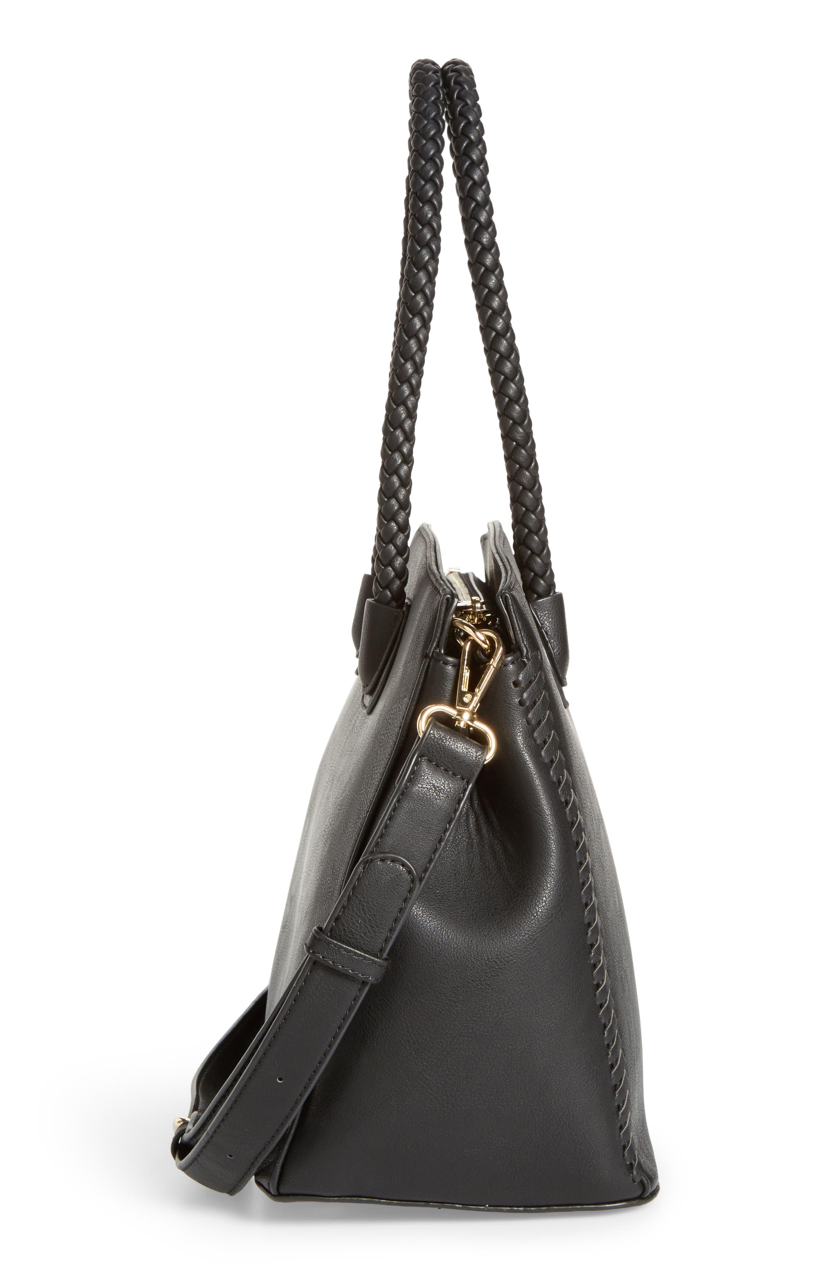 Alternate Image 5  - Sole Society Lexington Whipstitch Faux Leather Satchel