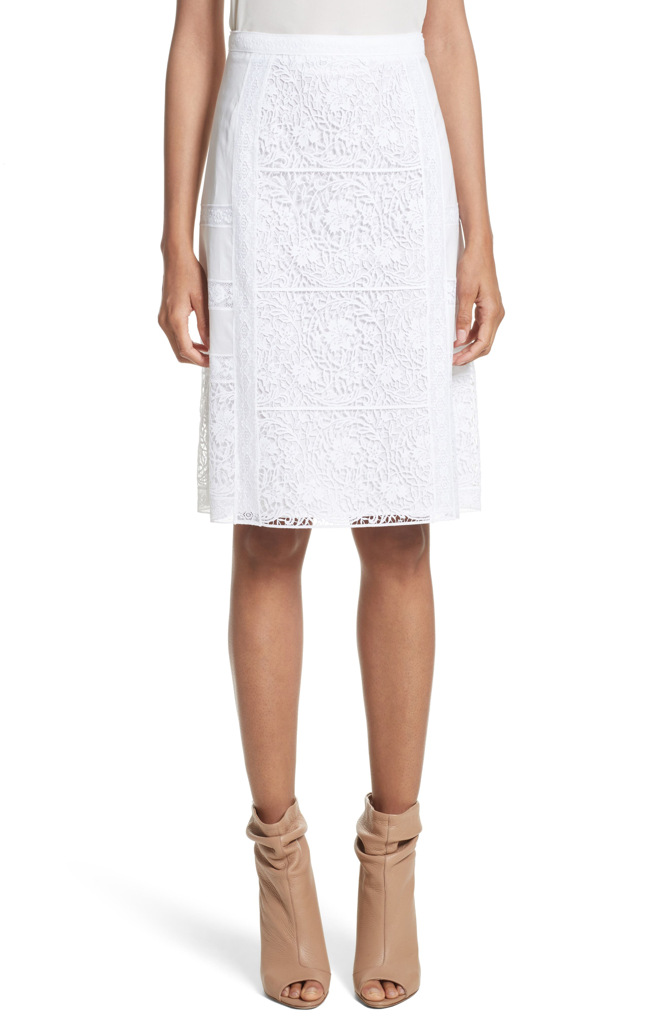 Burberry Drin Lace A-Line Skirt